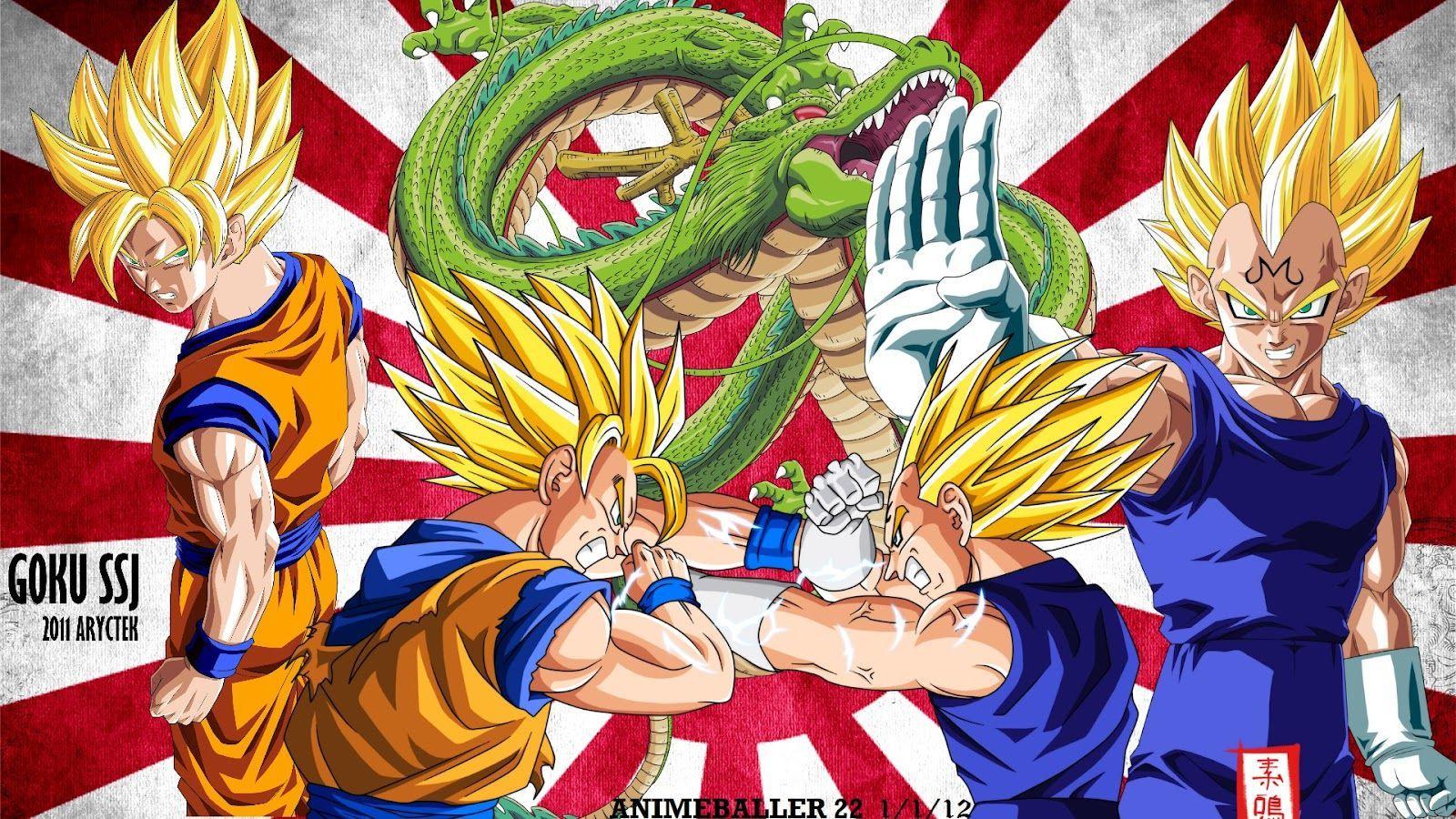 Dragon Ball Z Goku Vs Vegeta Wallpapers Wallpaper Cave