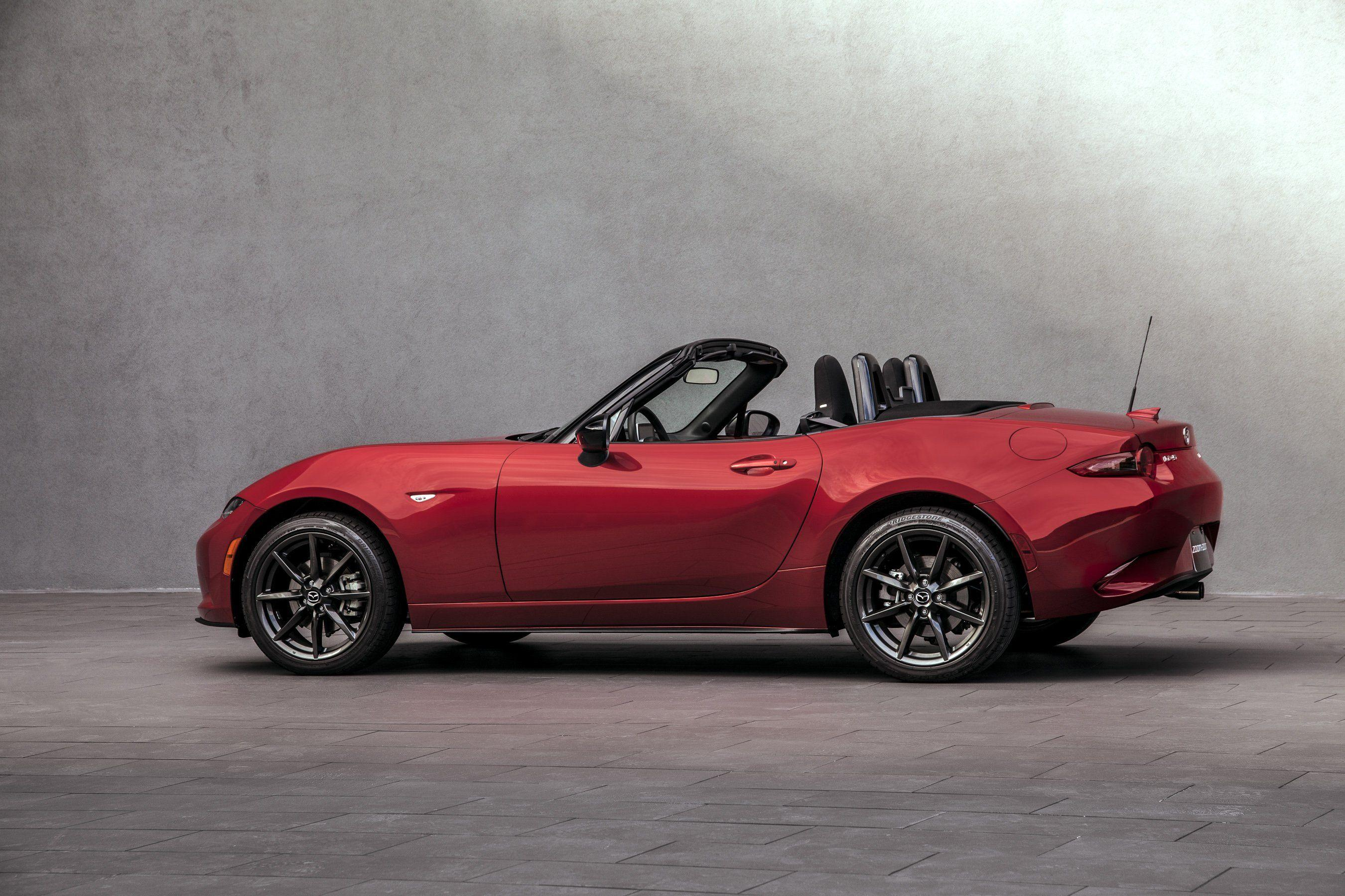 2016 Mazda MX-5 Miata US-spec cars roadster red 2015 wallpaper ...