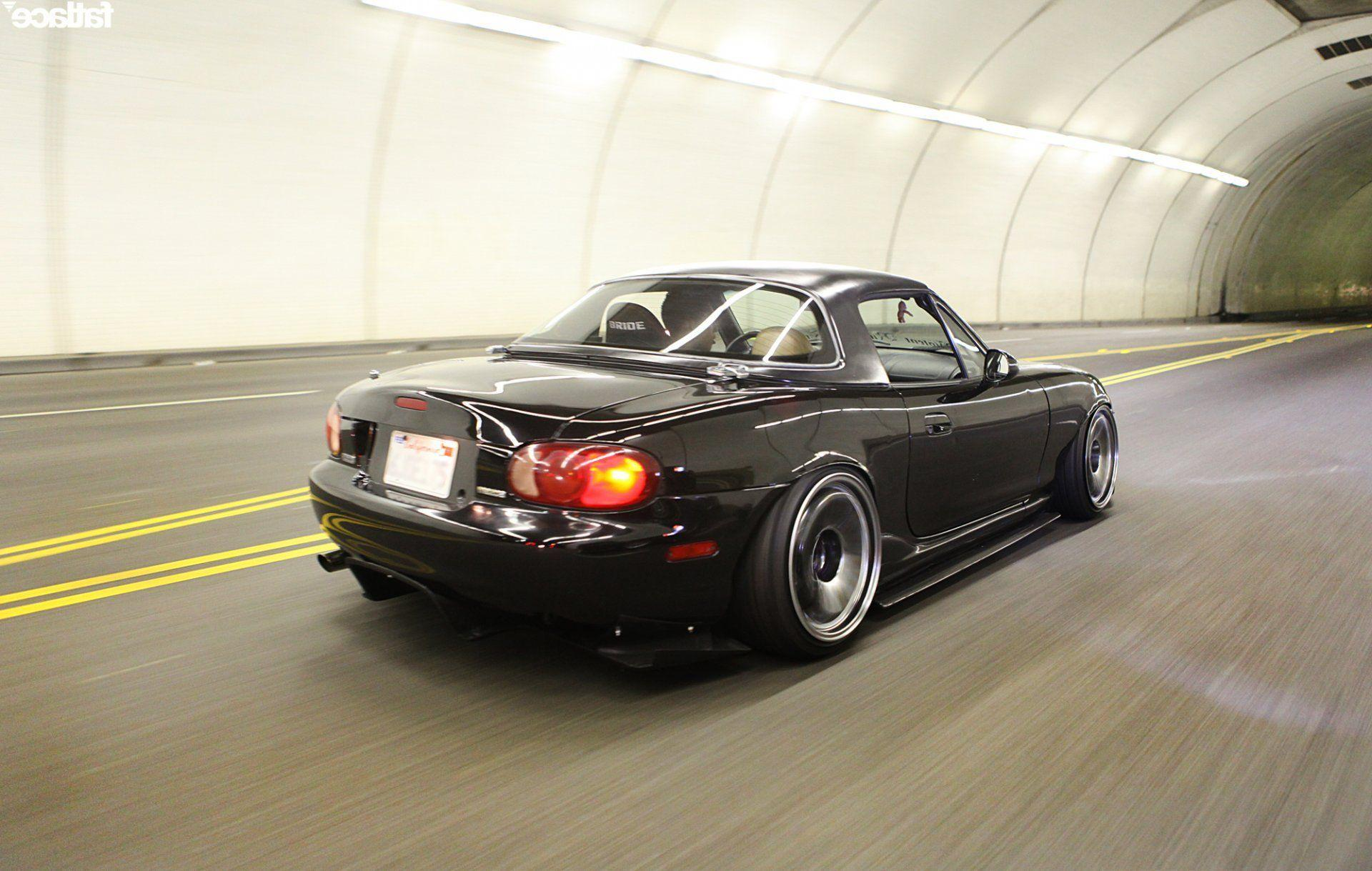 mazda miata black jdm HD wallpaper