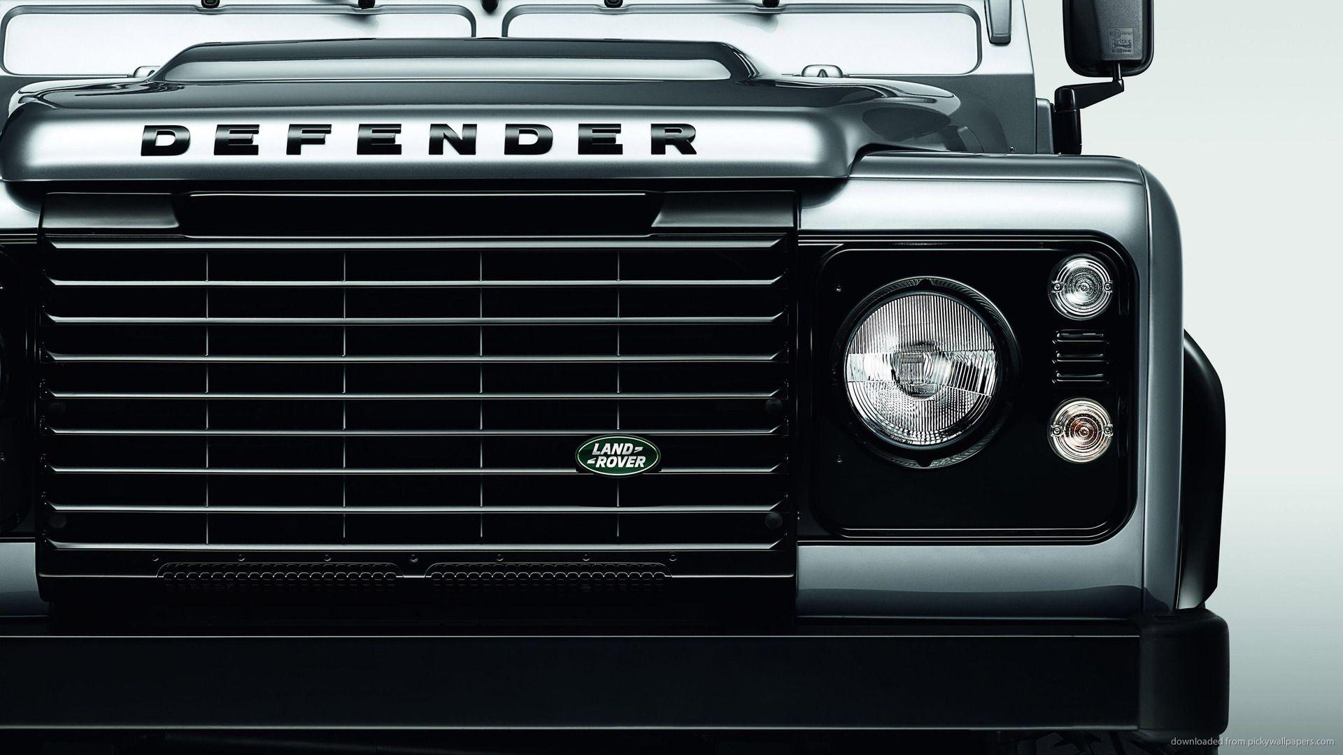 Download 1920x1080 Silver Land Rover Defender XS Radiator Grille