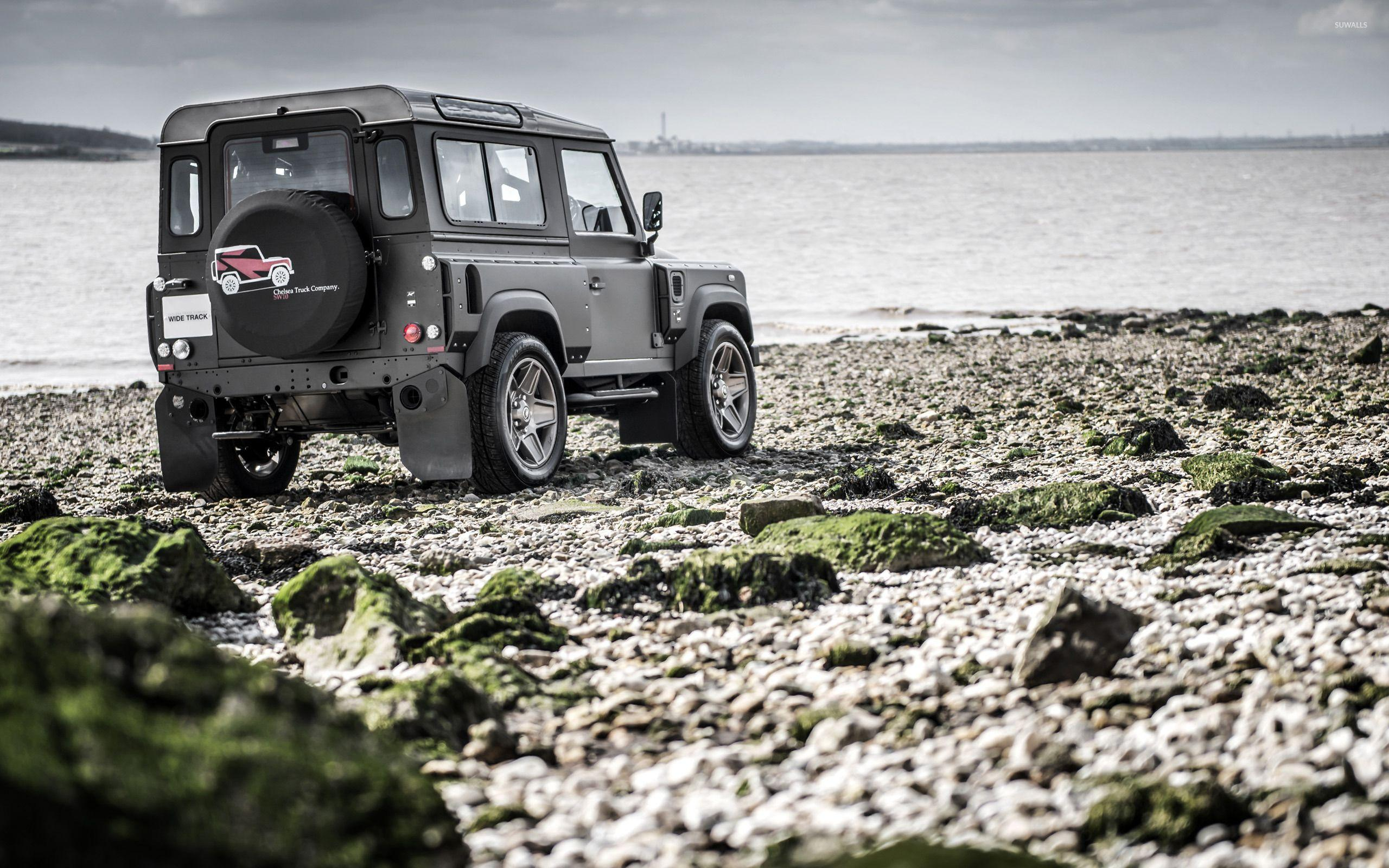Kahn Land Rover Defender back side view wallpapers