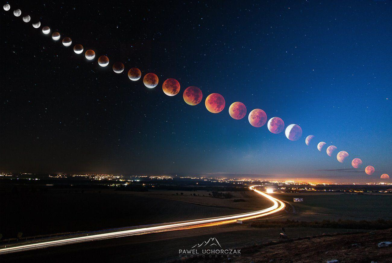 Best Picture of Super Blood Moon So Far - Imgur