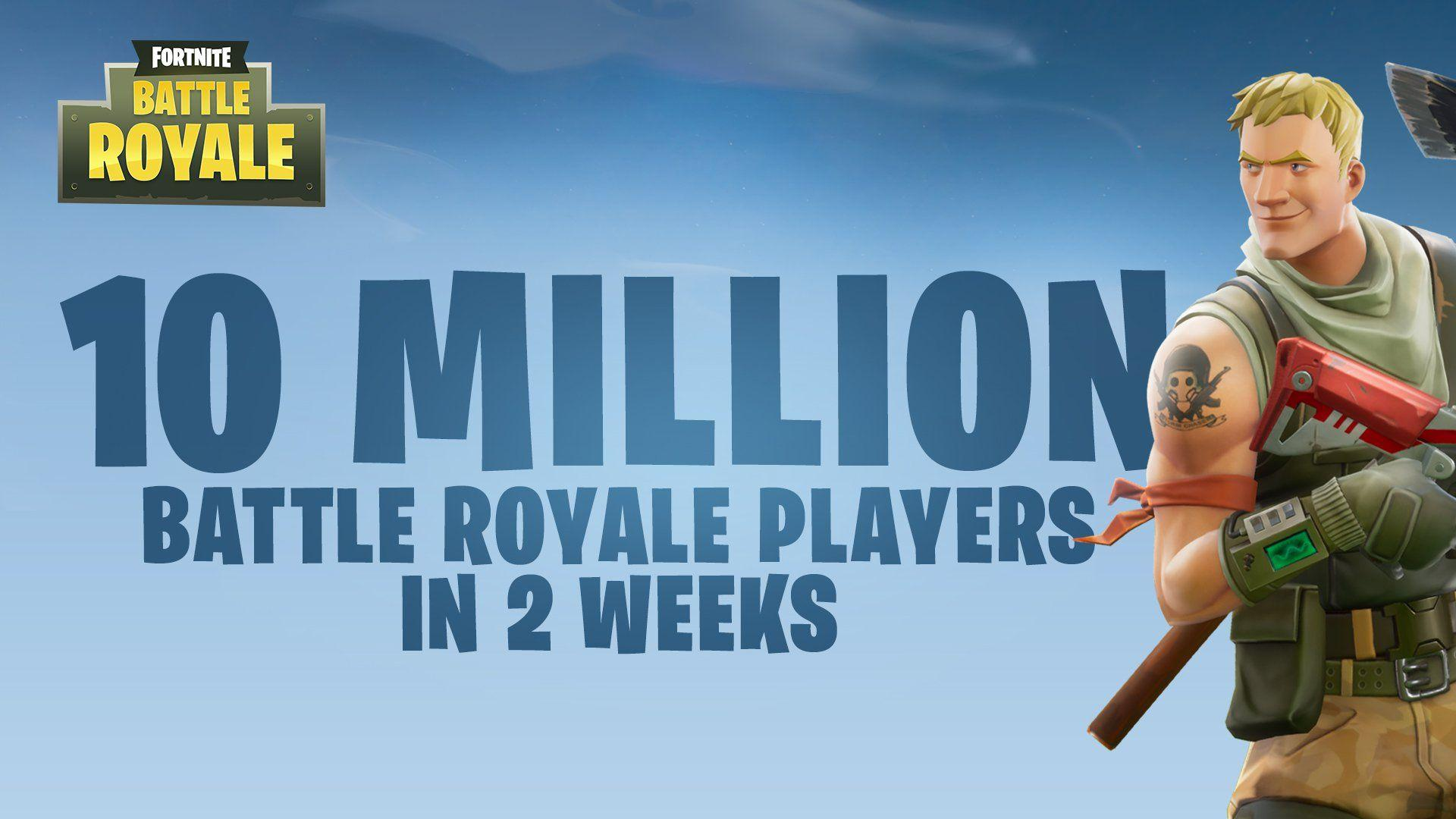 Fortnite Battle Royale Surpasses 10 Million Players