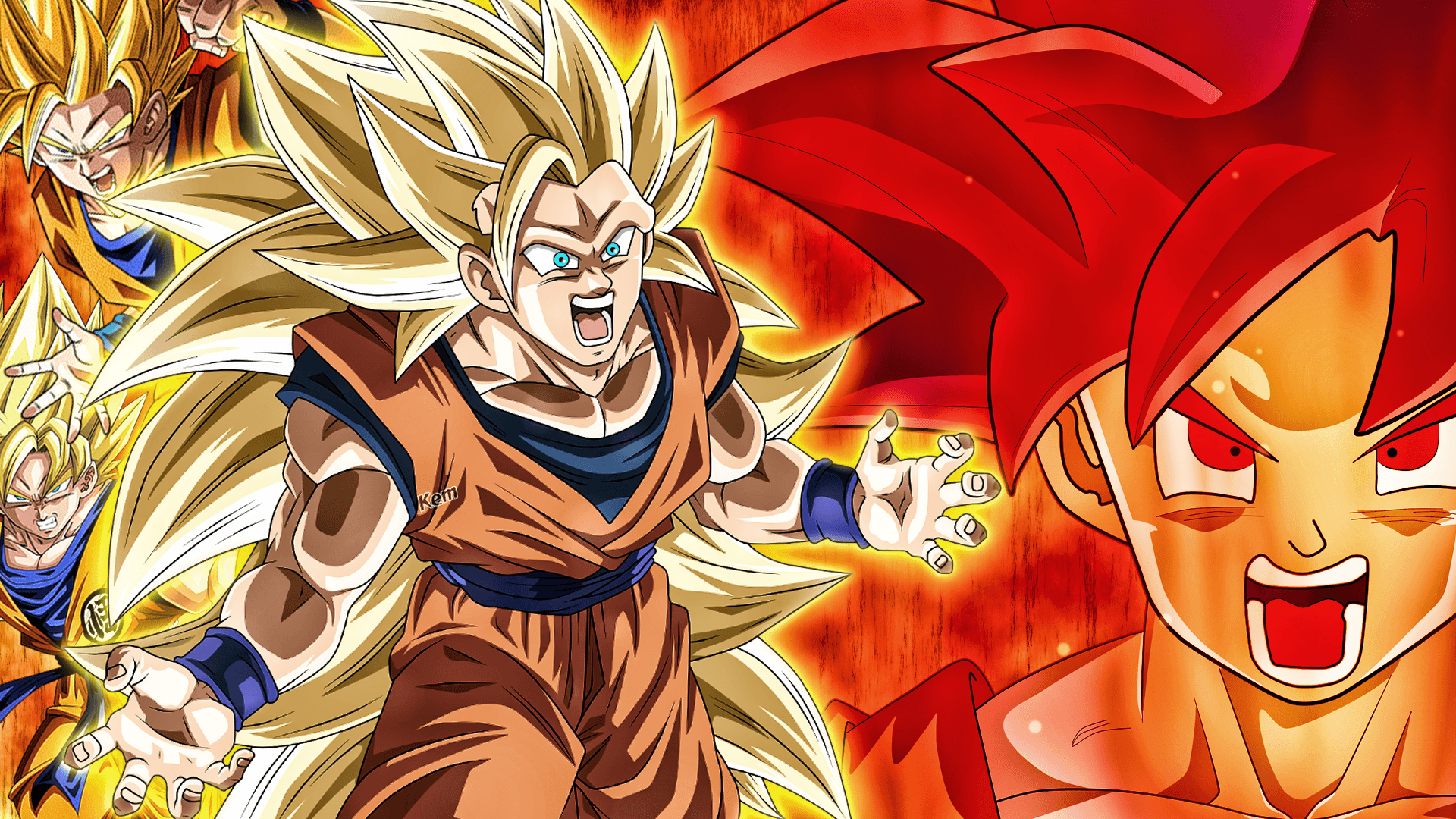 Dragon Ball Z wallpaper containing anime called ssj3 Goku