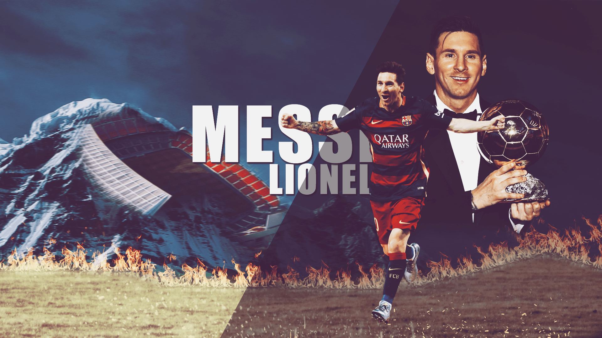 LIONEL MESSI 2016 Balon d'or Winner HD wallpapers by Ramziboy95 on