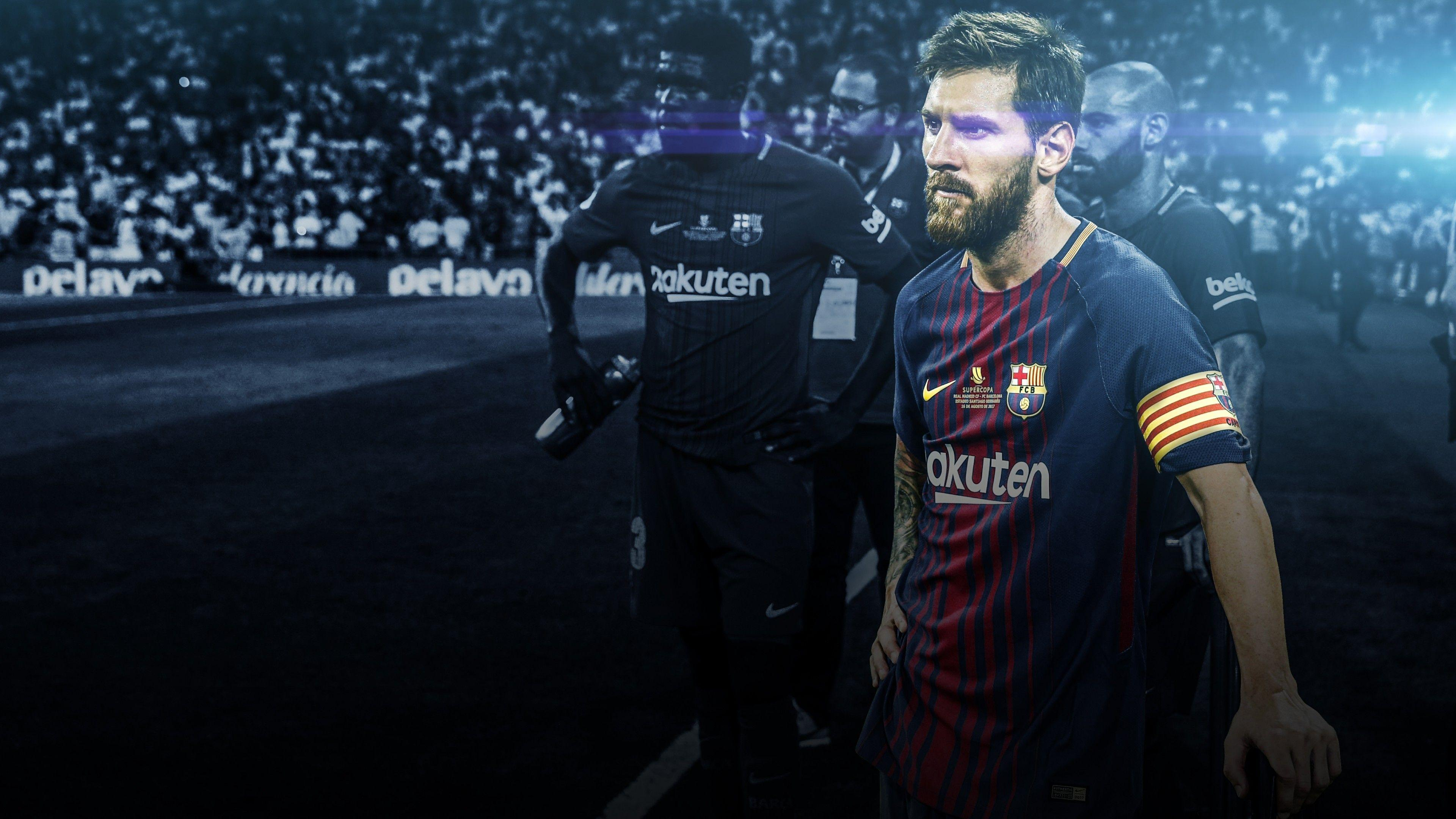 Wallpapers Lionel Messi, FC Barcelona, FCB, 4K, Sports,
