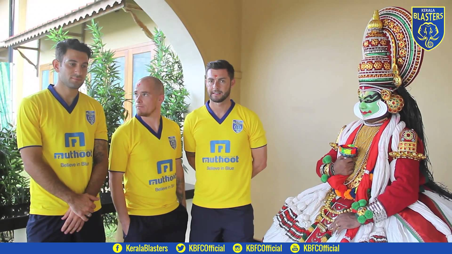 Andrew Barisic, Iain Hume and Jamie McAllister with a Kathakali ...