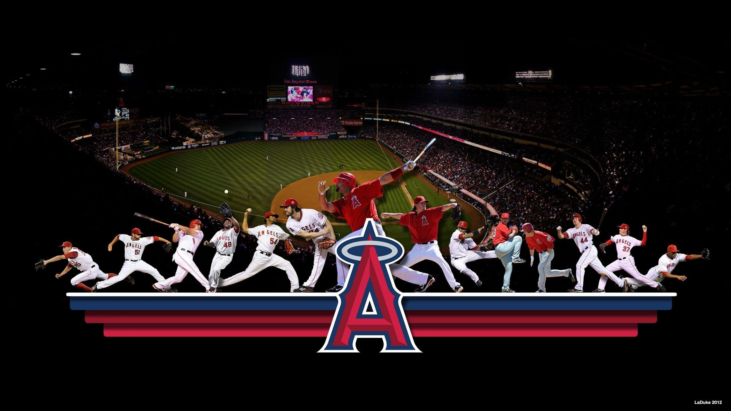 2560x1440 Los Angeles Angels Mlb Baseball Art, Los Angeles Angels