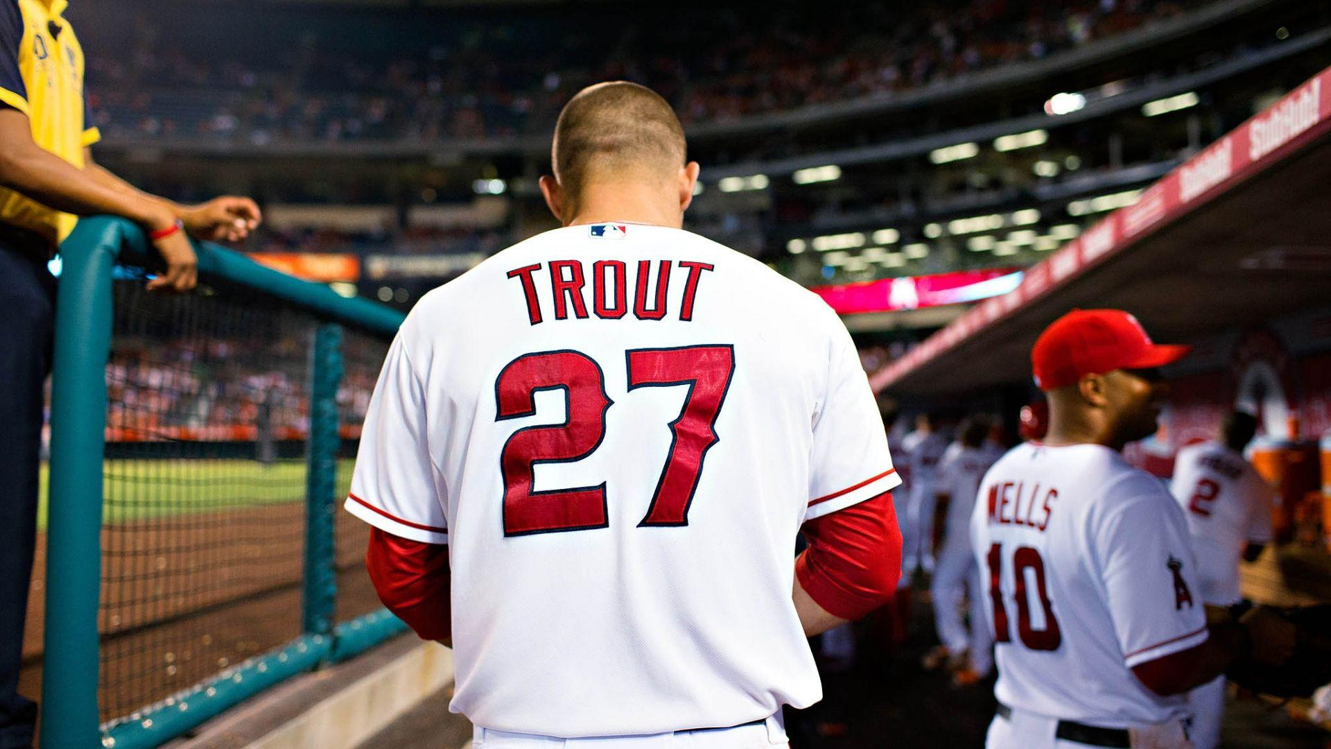 Download Wallpapers 1920x1080 Mike trout, Baseball, Los angeles
