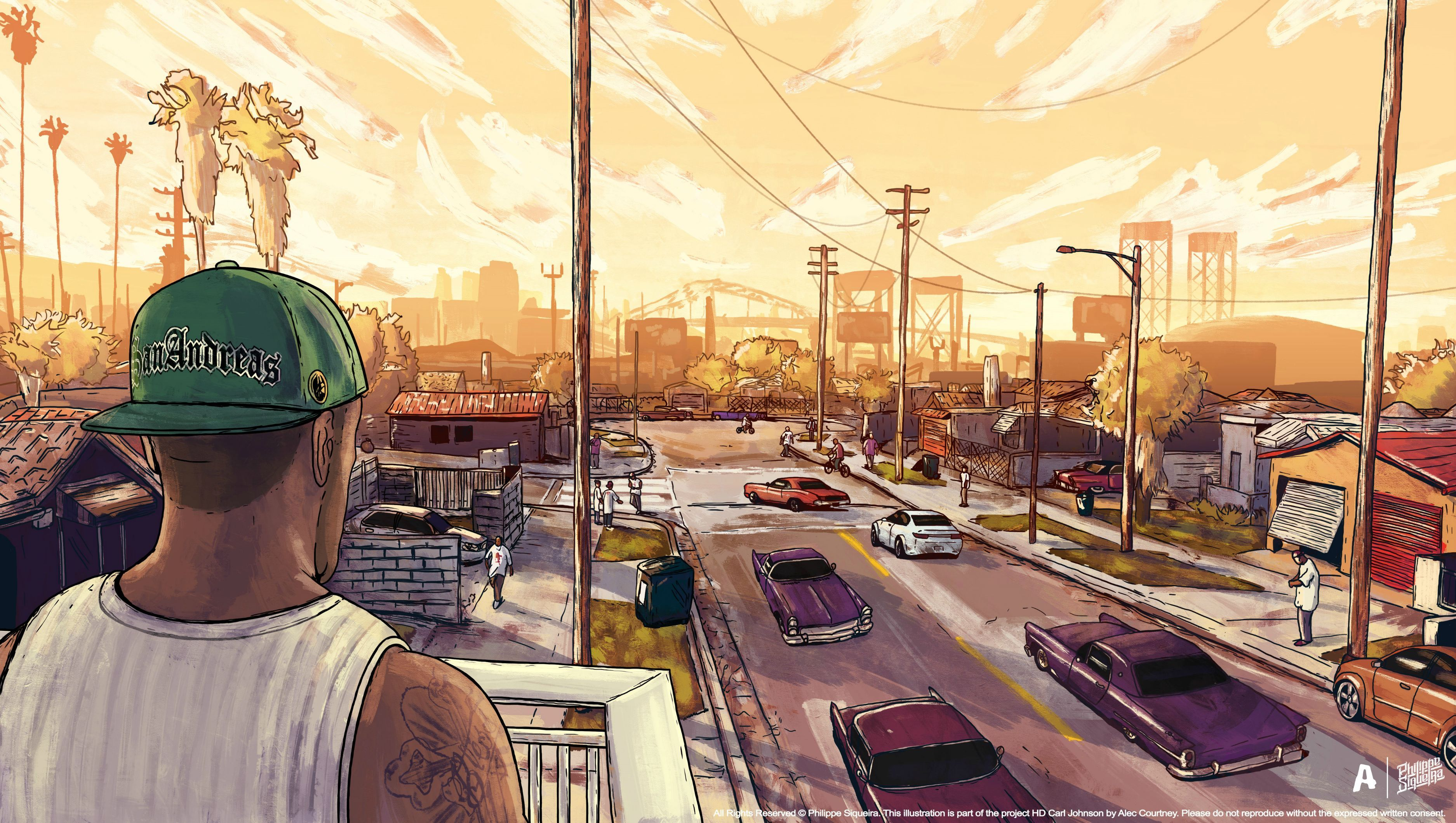 Gta San Andreas Artwork, HD Games, 4k Wallpapers, Image