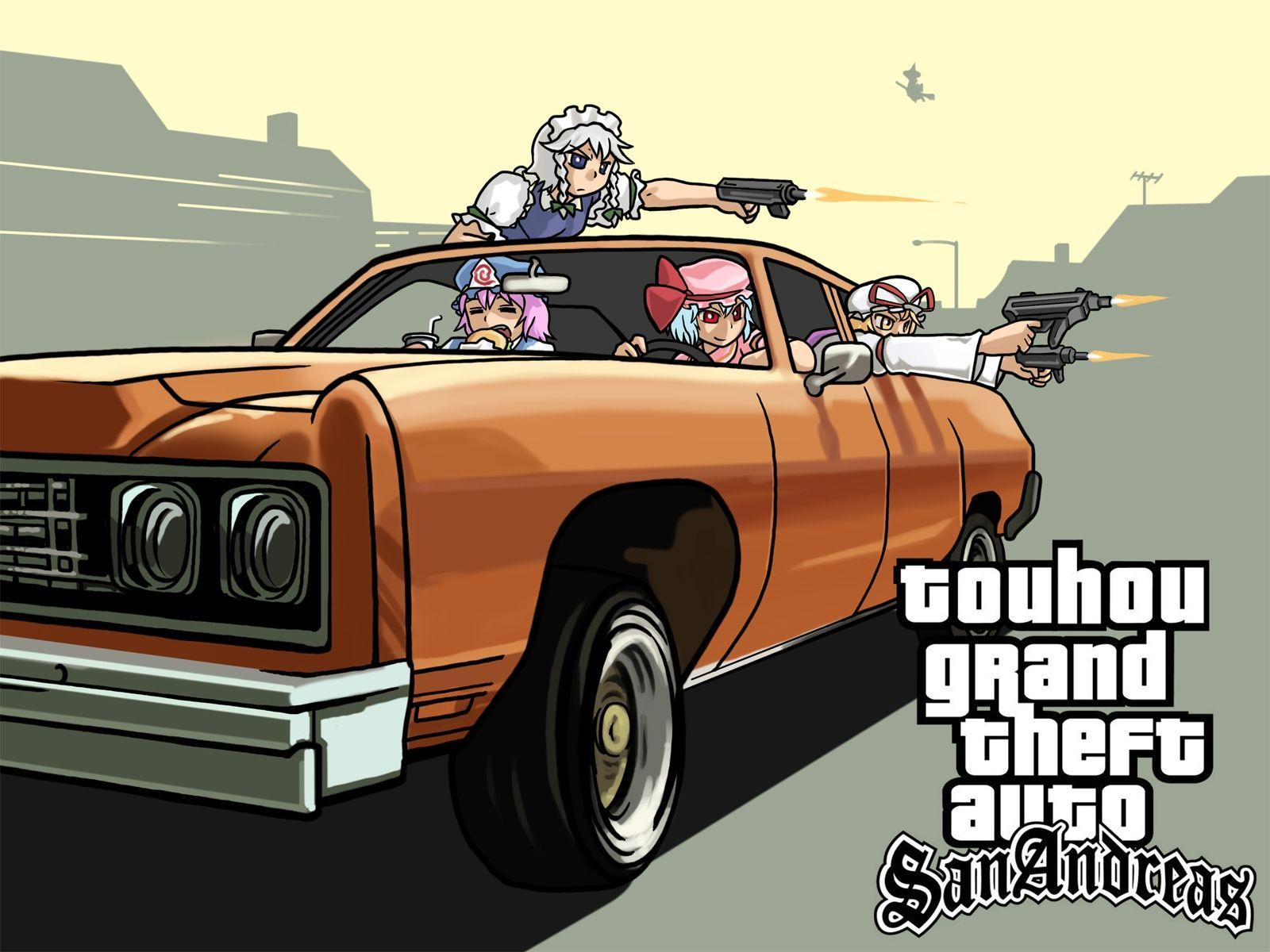 Wallpapers Gta, Grand theft auto, San andreas, Car, Anime HD
