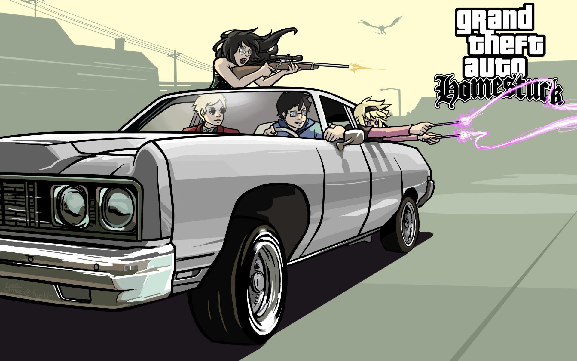 Grand Theft Auto Homestuck, HD Games, 4k Wallpapers, Image