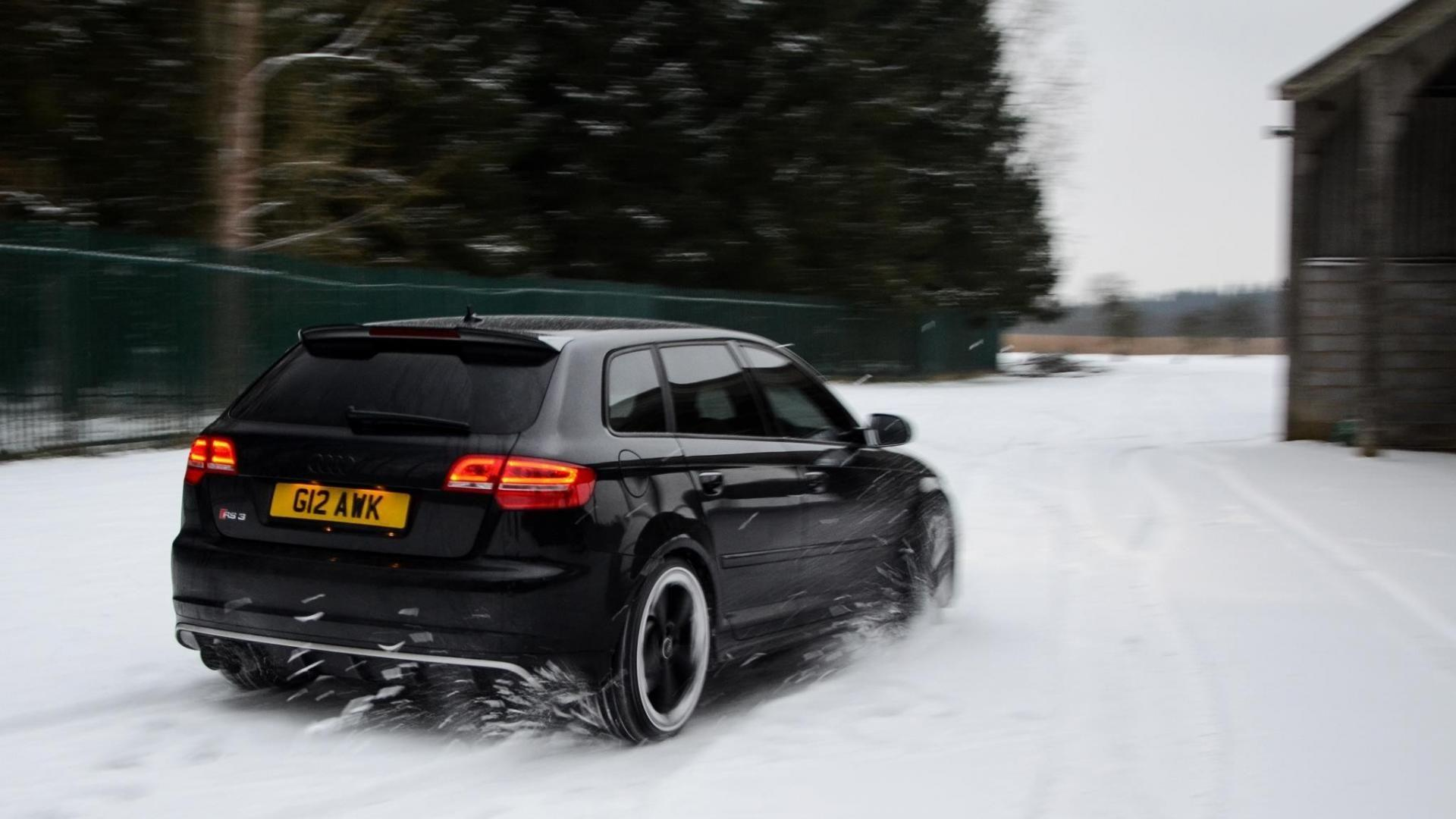 Nature snow cars audi rs3 sportback wallpapers
