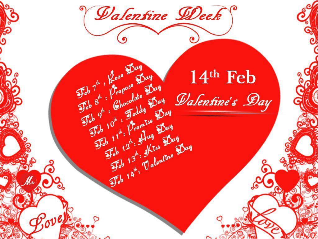 Valentine Week List High Definition Wallpaper 12819 - Baltana