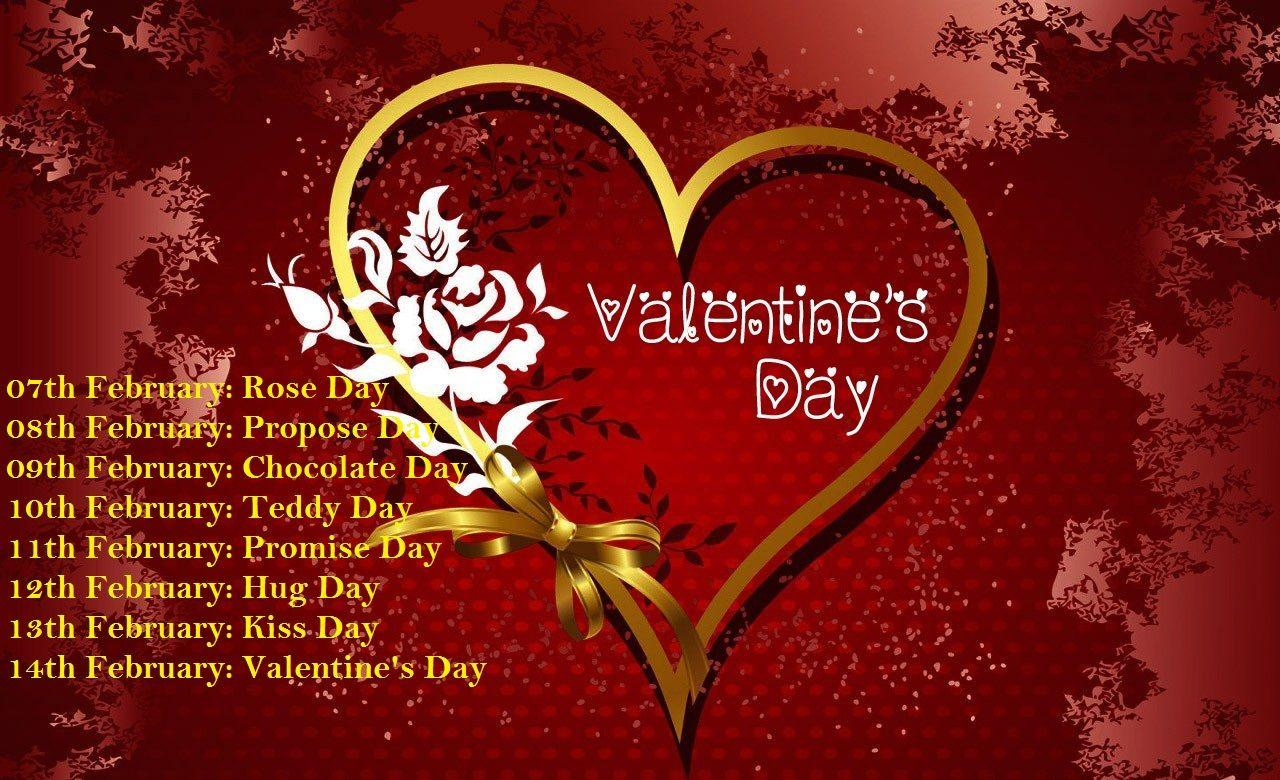 Valentines Day Week List 2018 Dates, Day, Time Table, Schedule 7th ...