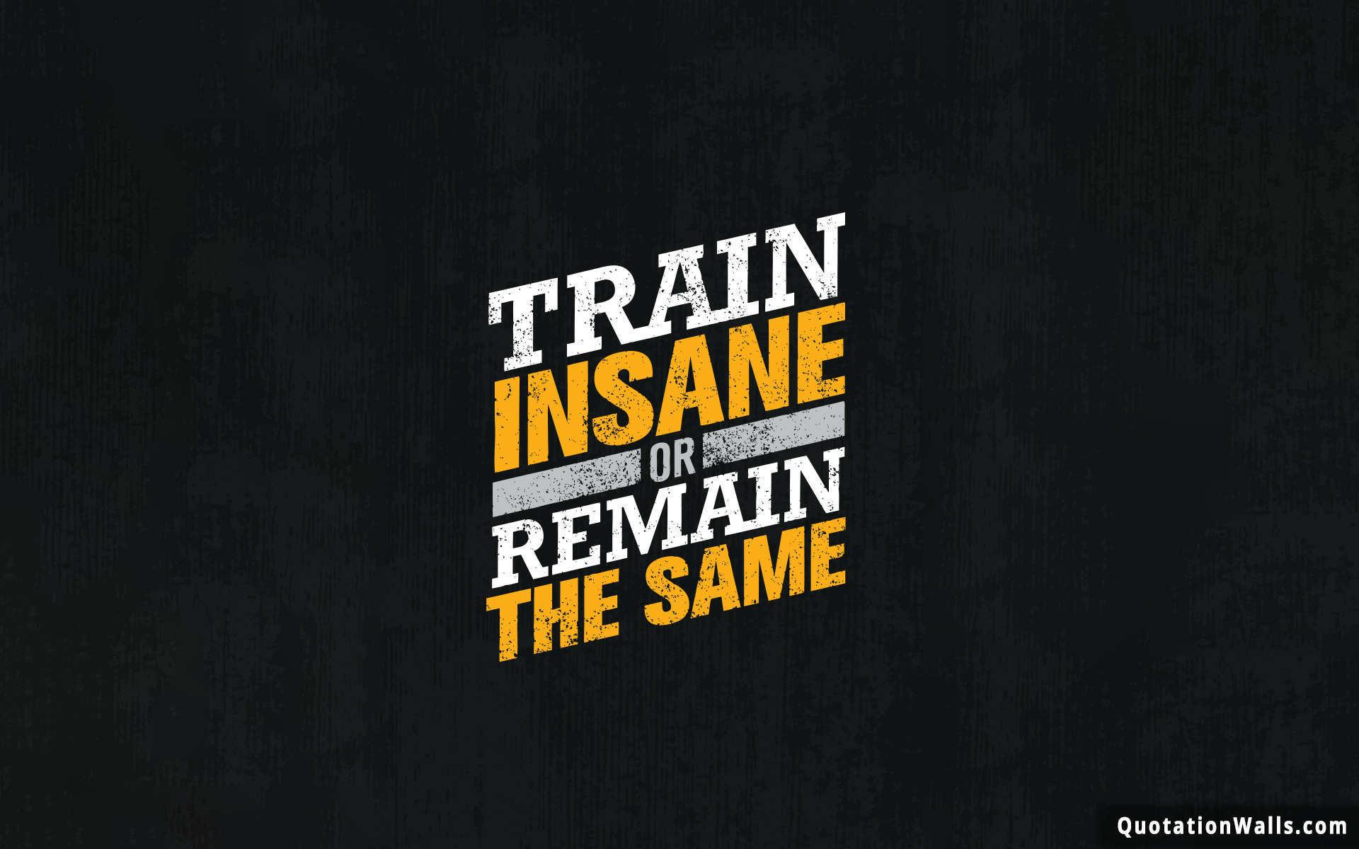 Train Insane Motivational Wallpaper For Mobile   QuotationWalls