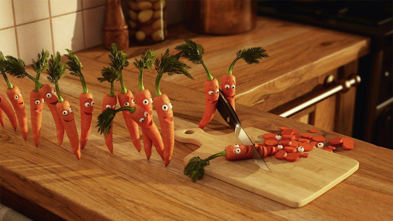 Прикольная морковка картинка
