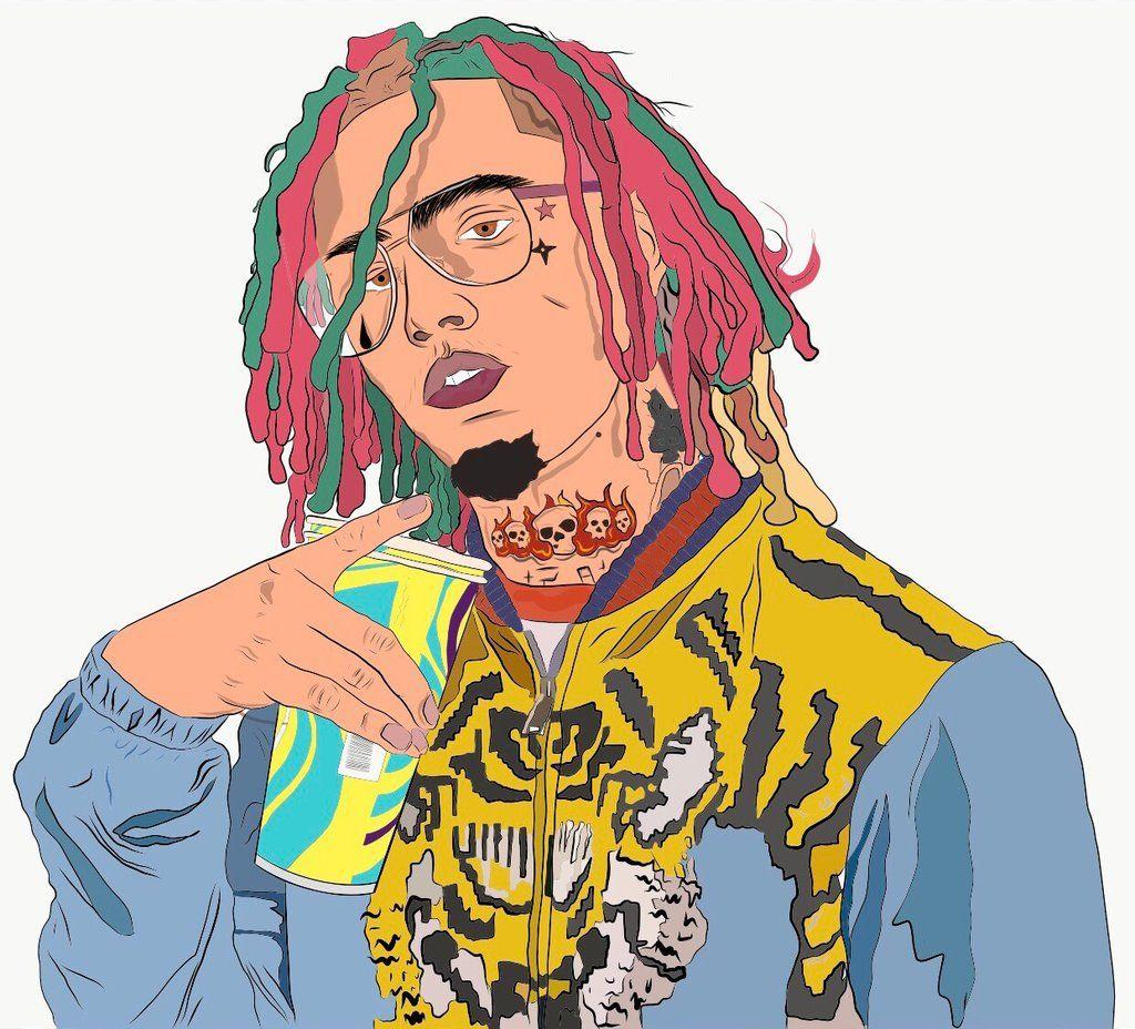 Lil Pump Cartoon Wallpapers Wallpaper Cave