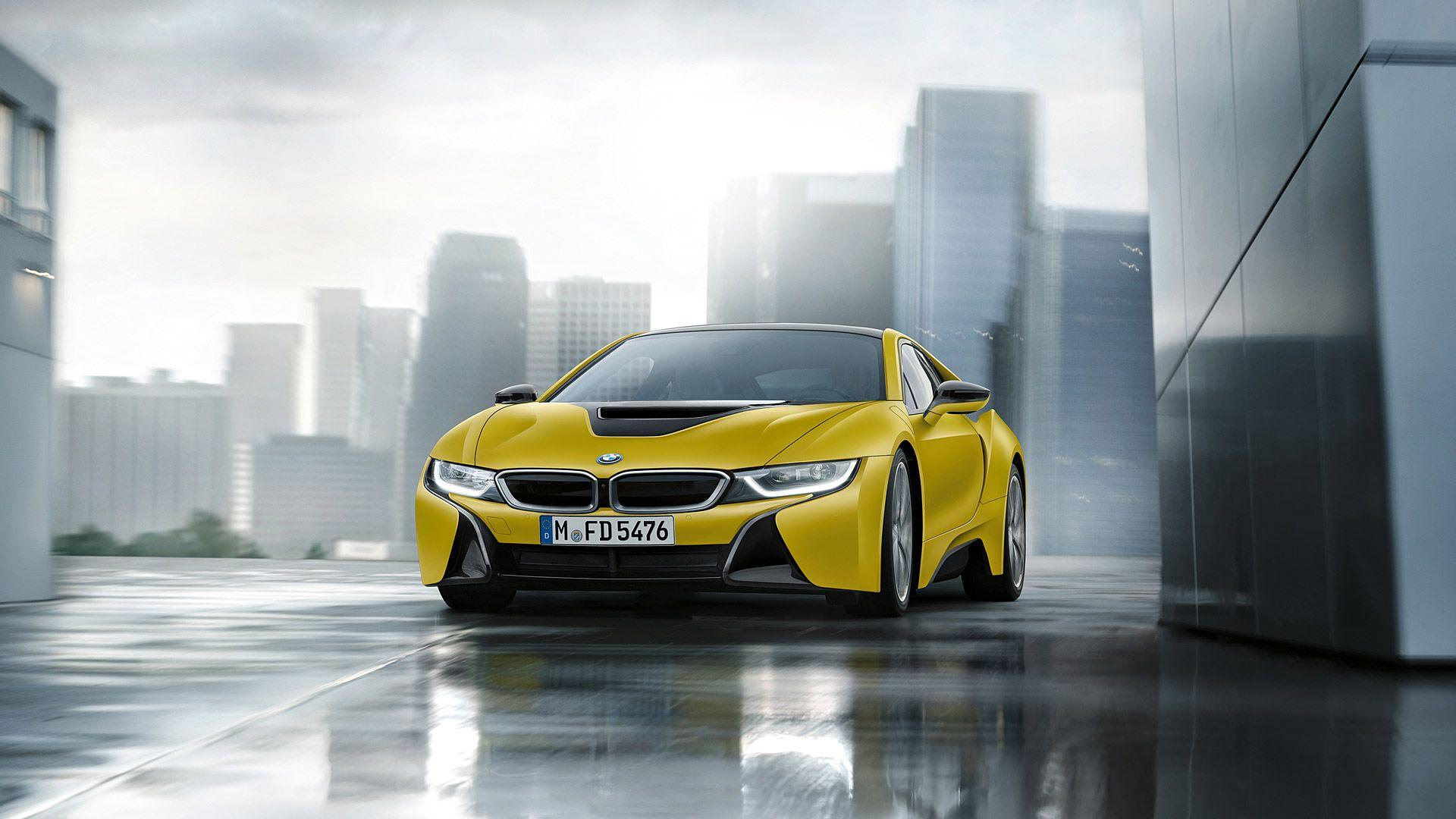2018 BMW i8 Protonic Frozen Yellow Wallpapers & HD Image