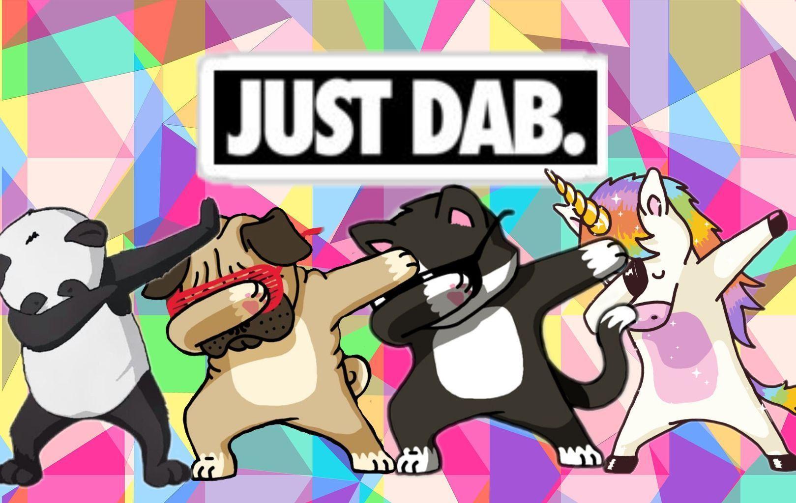 dab dabbing panda unicorn dog cat.