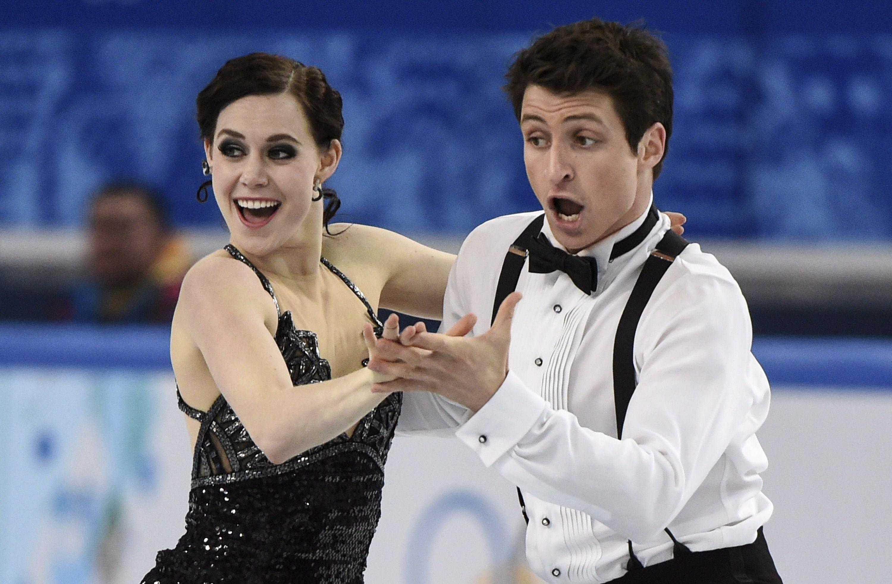 Holders of two silver medals at the Canadian figure skaters Tessa ...