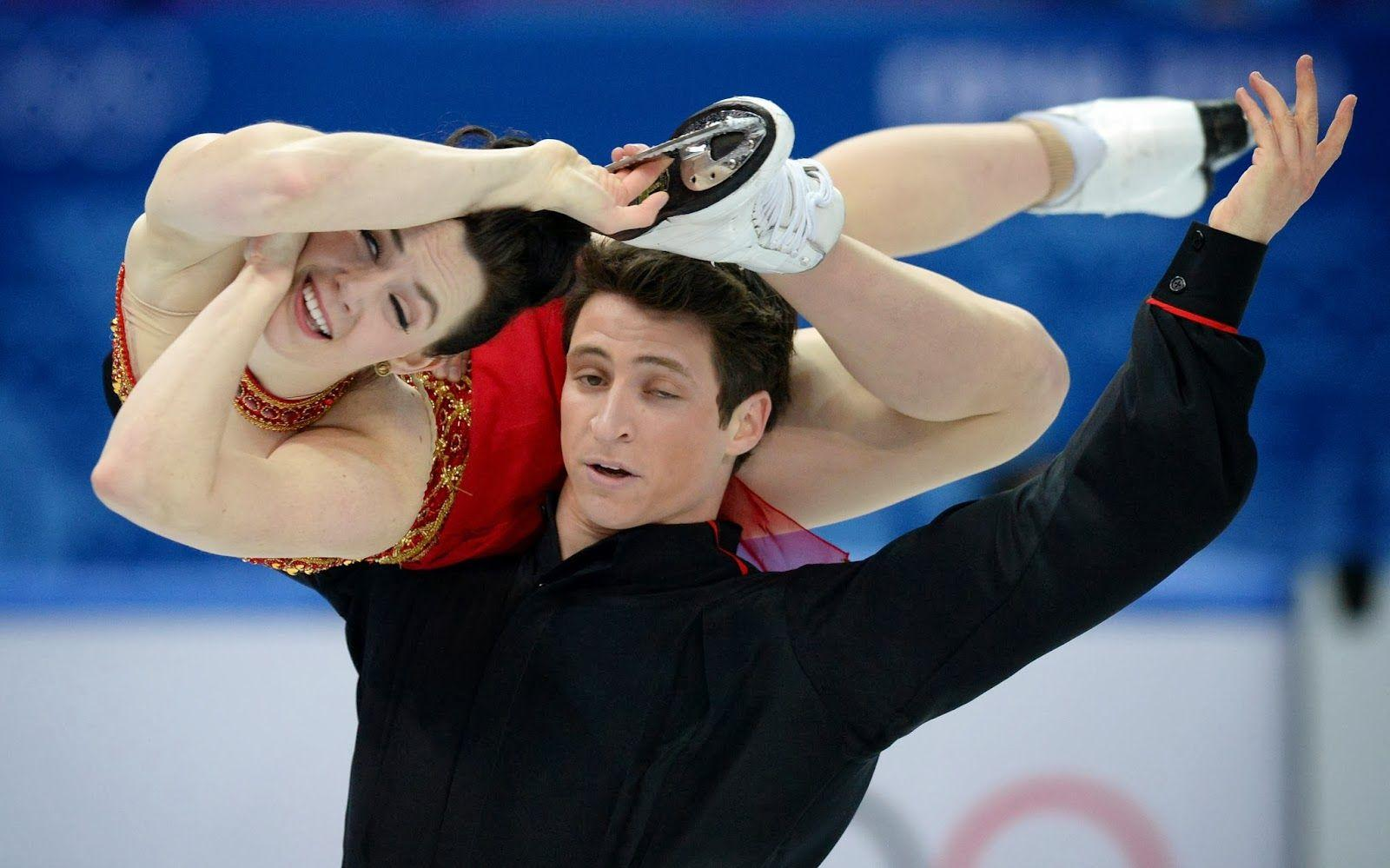 Canada's Scott Moir and Canada's Tessa Virtue perform in the ...