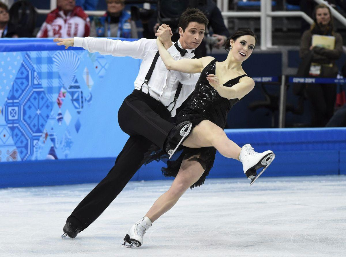 Tessa Virtue and Scott Moir at 2014 Winter Olympics in Sochi ...