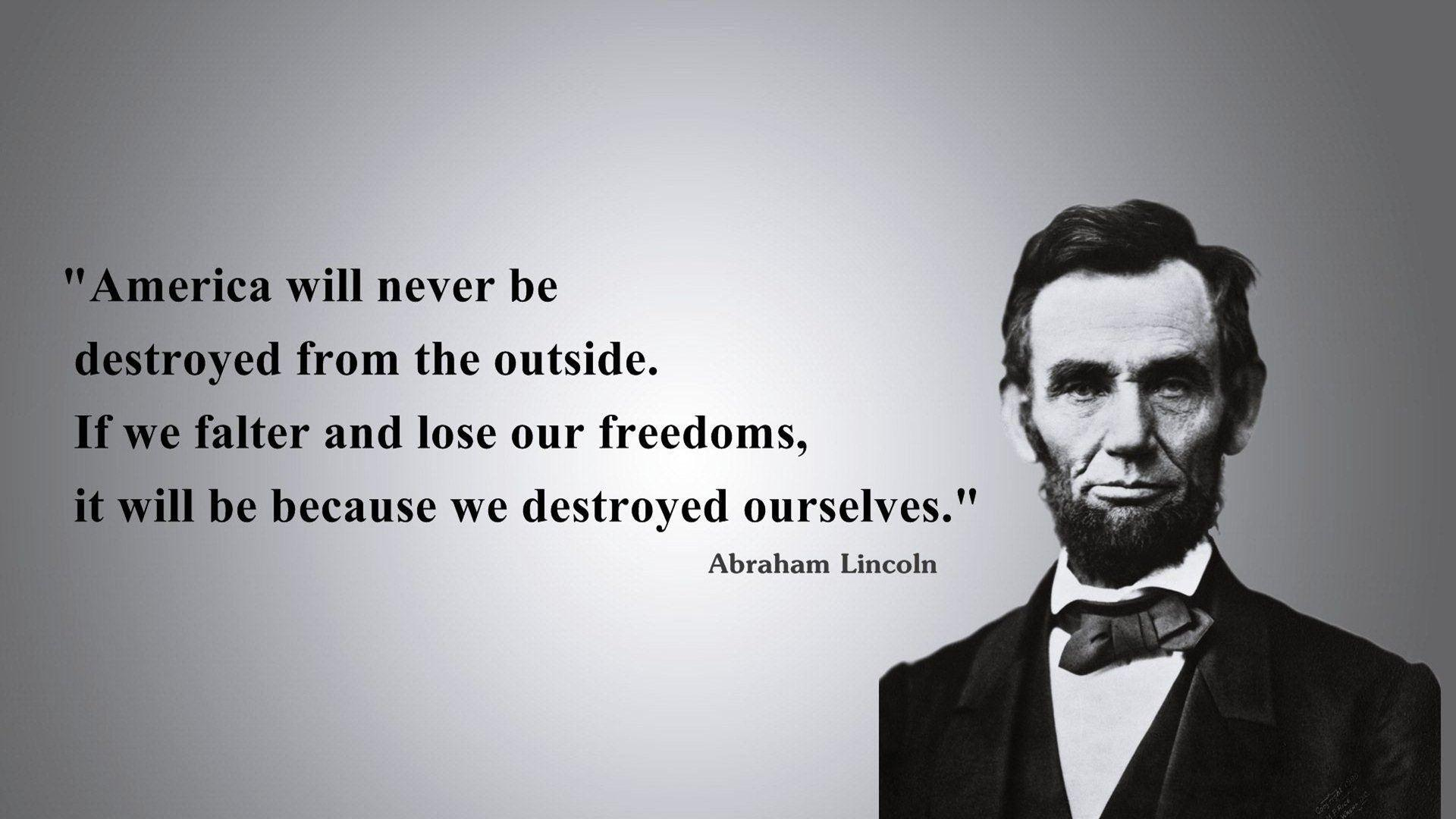 Abraham Lincoln Quotes Wallpapers HD Backgrounds, Images, Pics ...