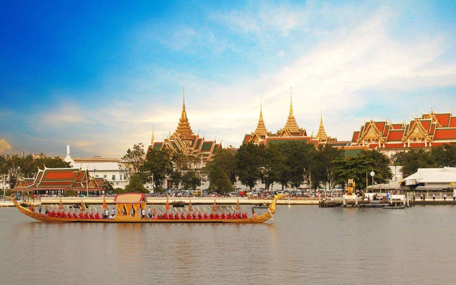 Bangkok, Thailand's capital, is a large city known for ornate ...