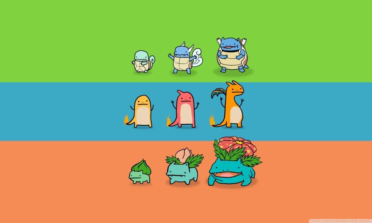 Bulbasaur, Charmander and Squirtle ❤ 4K HD Desktop Wallpaper for ...