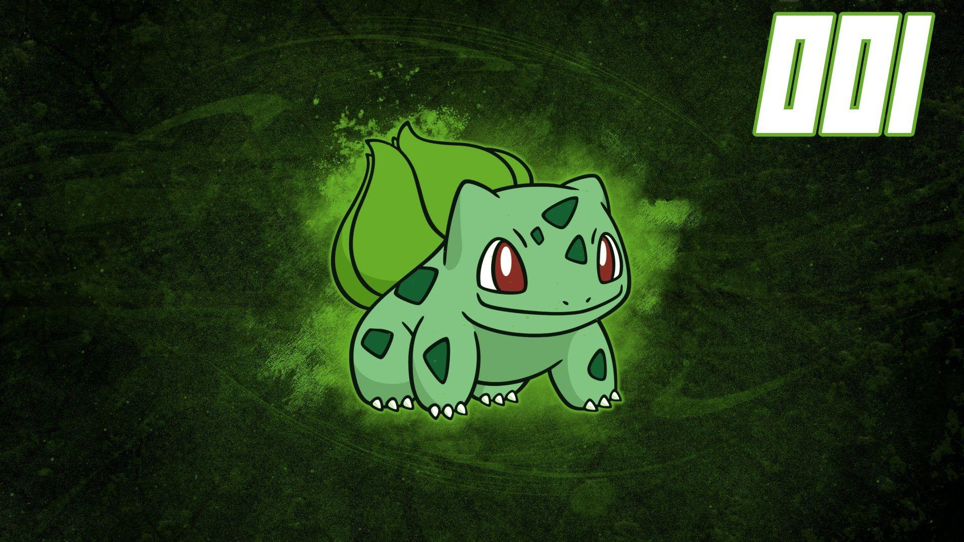 Pokemon Speedart #001 - Bulbasaur Wallpaper - YouTube
