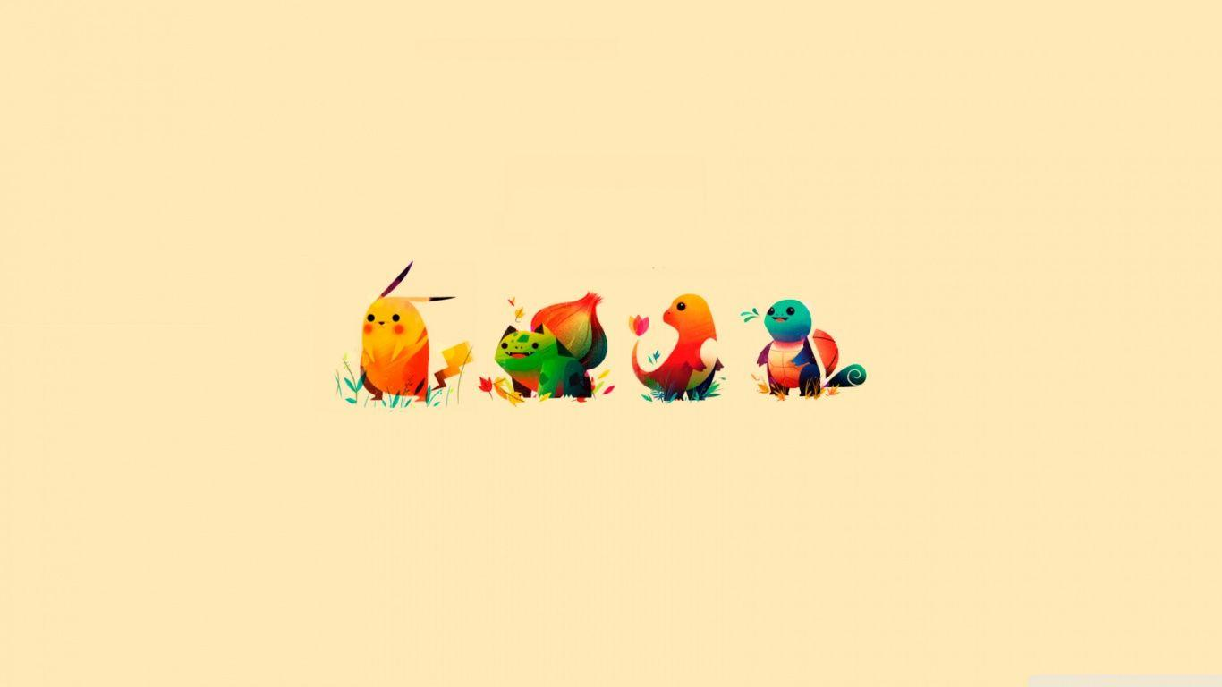 Pokemon Bulbasaur, Pikachu, Charmander, Squirtle ❤ 4K HD Desktop ...