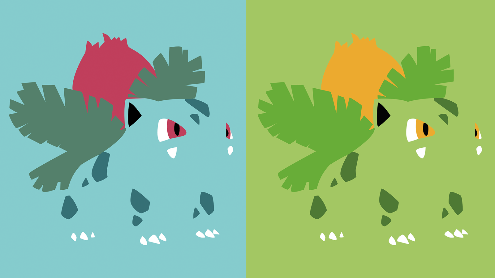 Ivysaur Minimalist Wallpapers by AeolusDesign