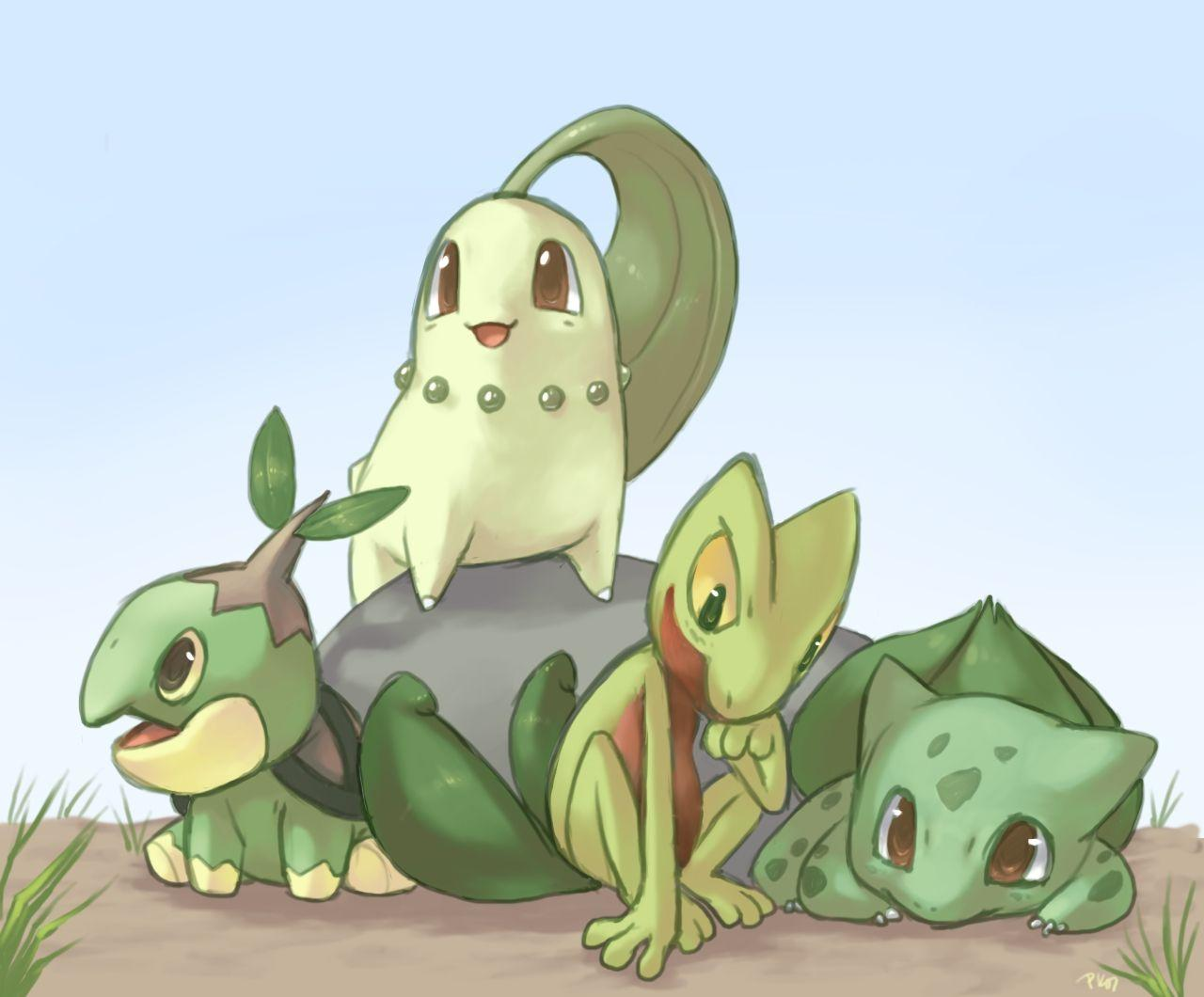 pokemon bulbasaur chikorita 1280x1060 wallpaper High Quality ...