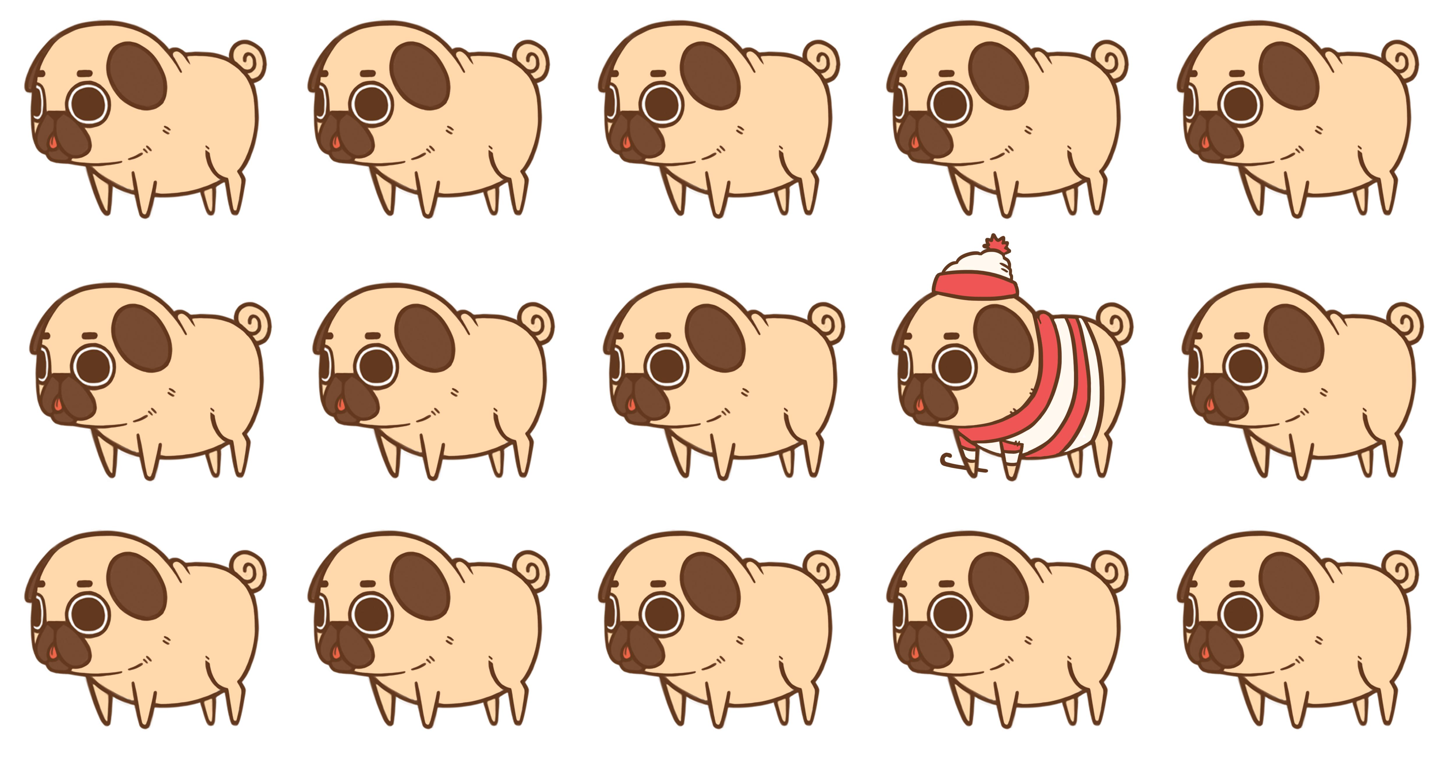 Cartoon Pugs Wallpapers Wallpaper Cave