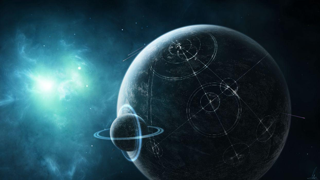 Alien Civilization Planet Stars Starlight wallpapers