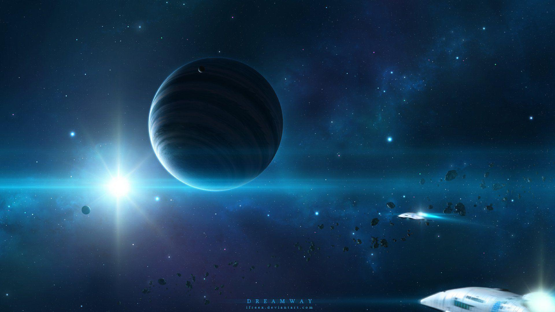 space star spacecraft art planetv space art starlight planet HD