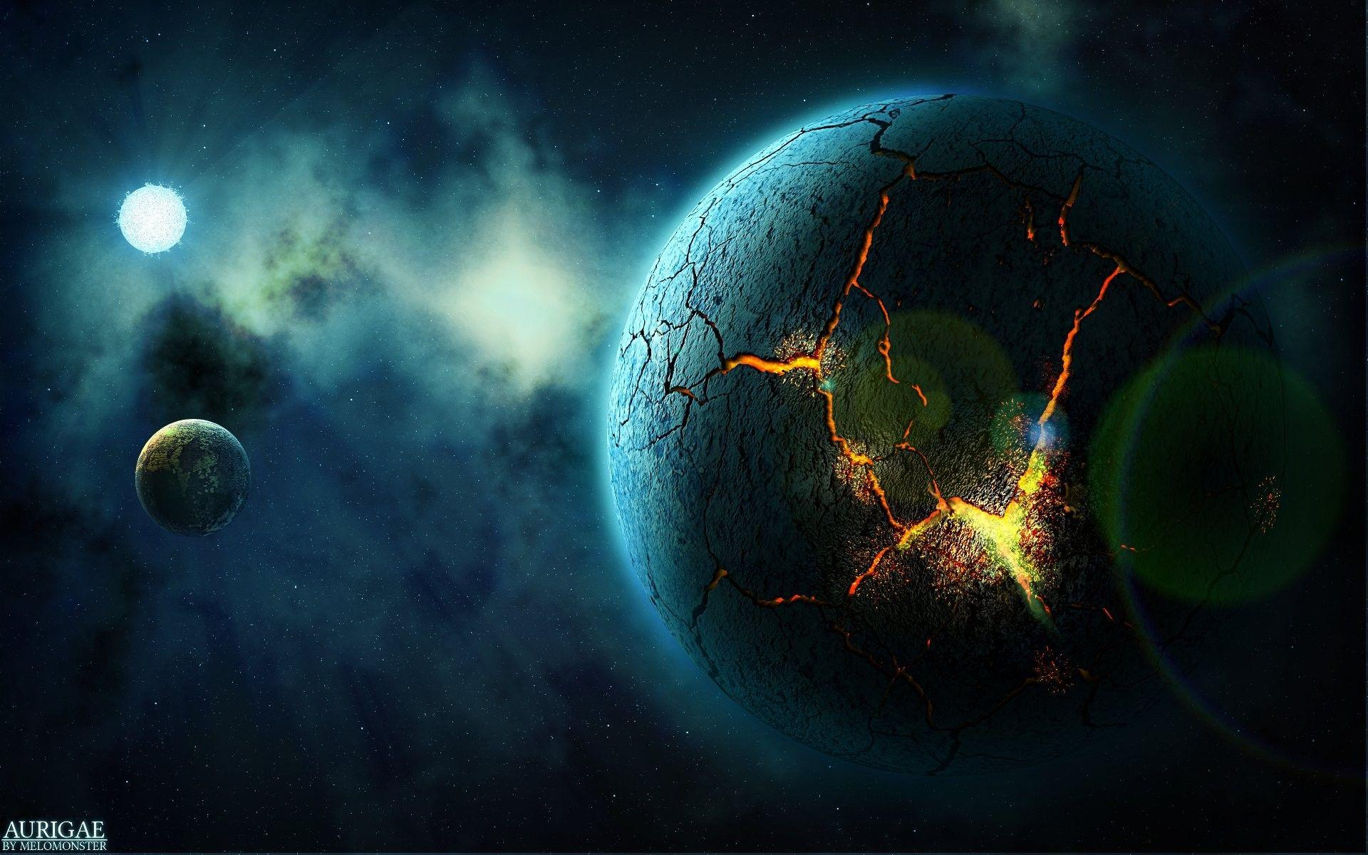 Space: Planet Starlight Cracked Stars Best Nature Wallpapers For