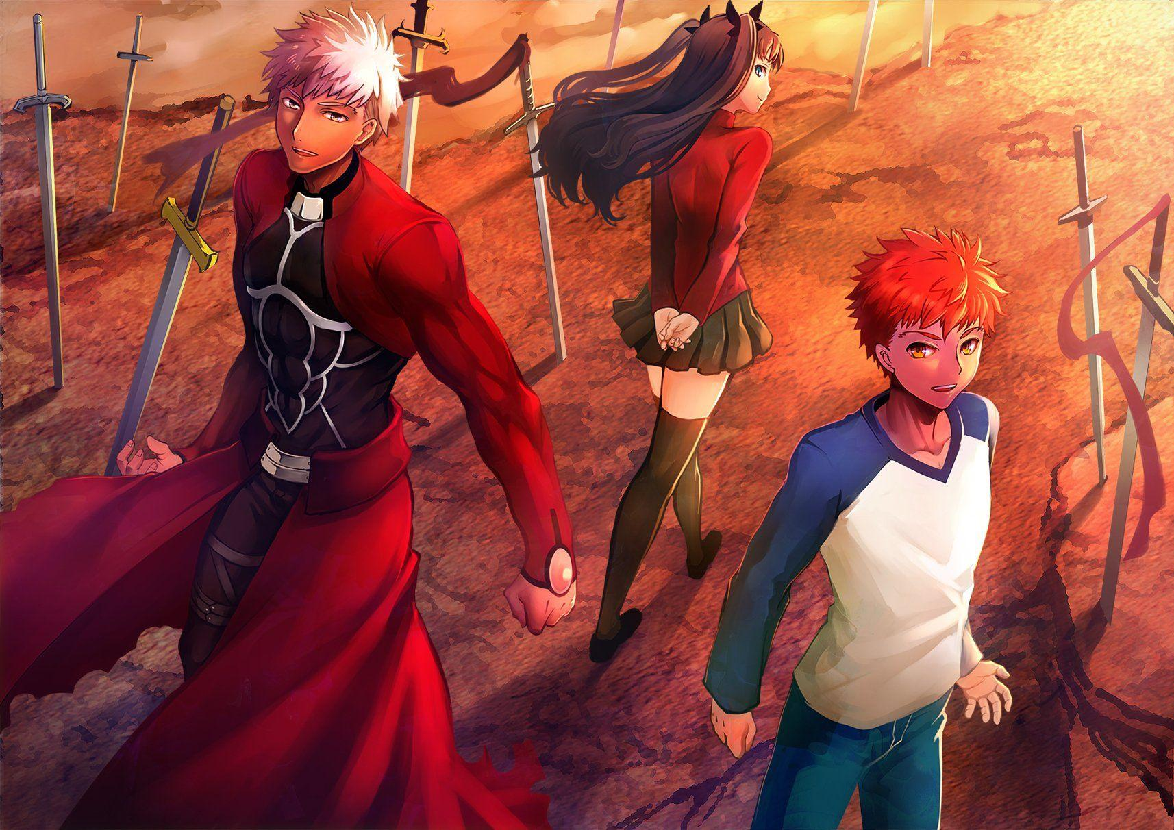 Fate Stay Night Tohsaka Rin Emiya Shirou Archer Wallpaper