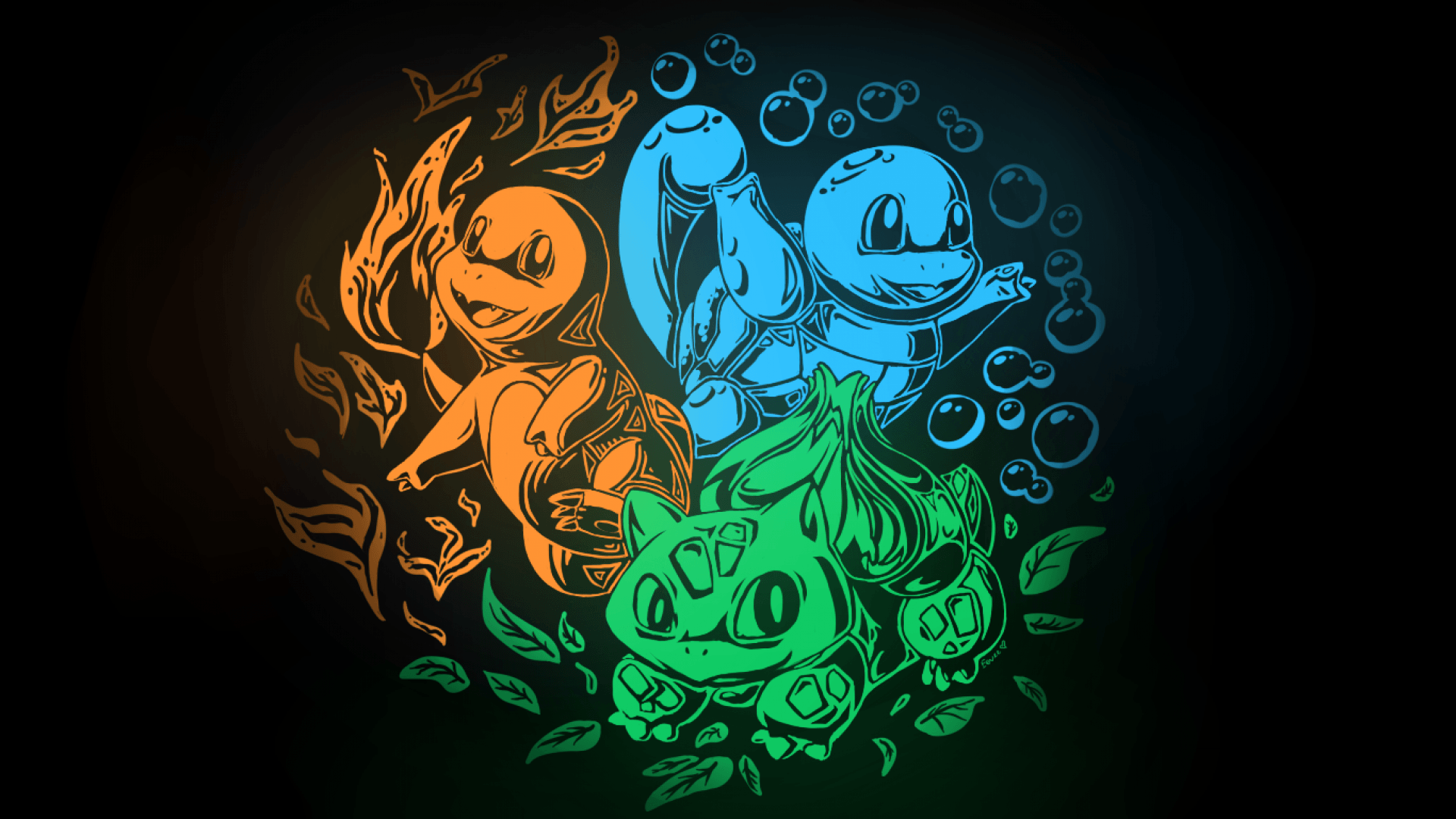 SimplyWallpapers: Bulbasaur Charmander Pokemon Squirtle kanto