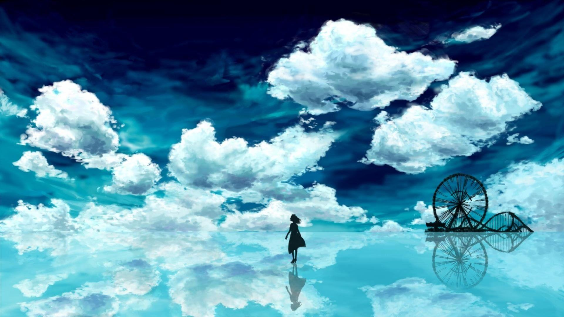 Anime Blue Sky HD Wallpapers