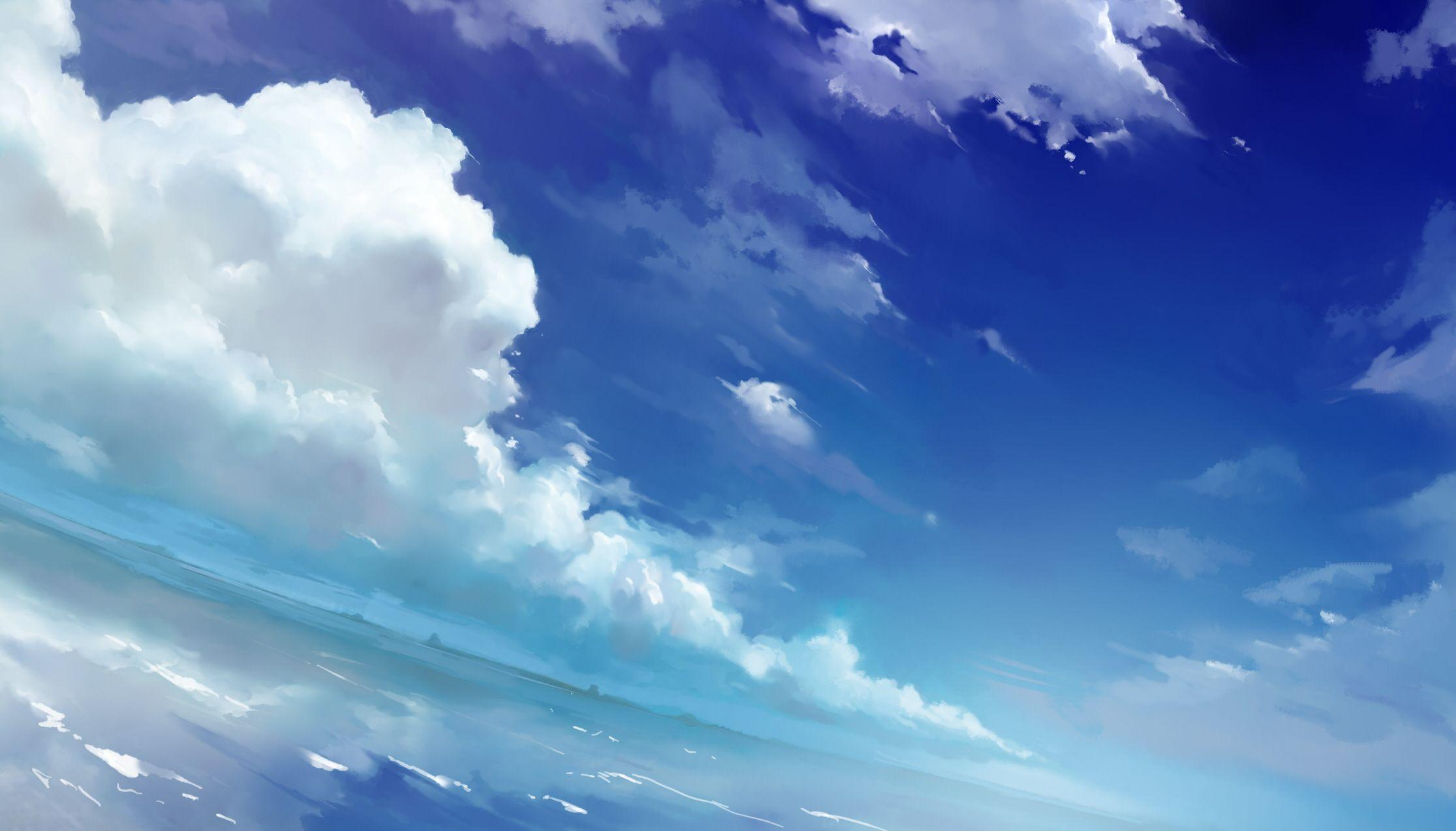 Anime sky wallpapers wallpaper cave - Anime background ...