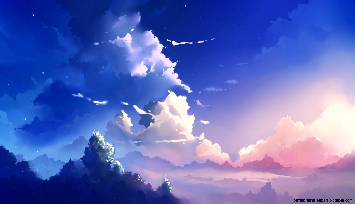 Anime Sky Wallpapers Wallpaper Cave