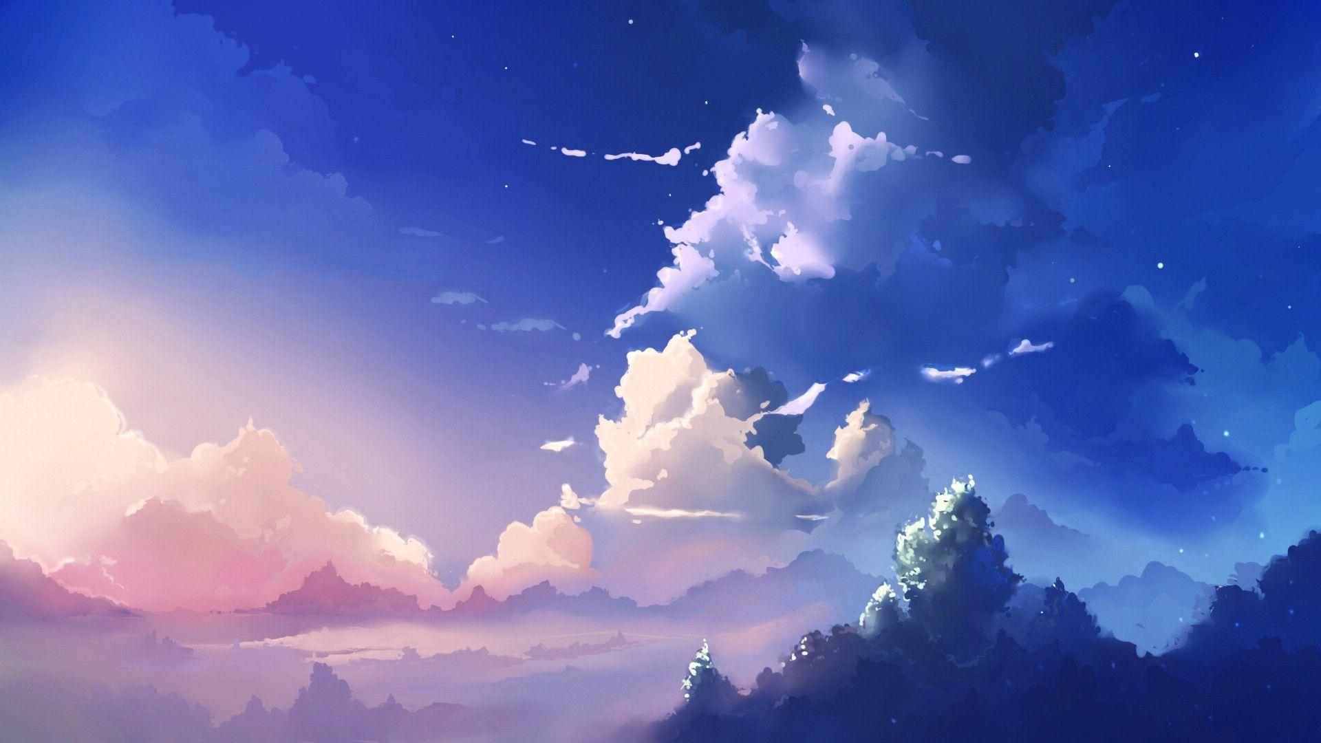 Anime sky wallpapers wallpaper cave - Anime sky background ...