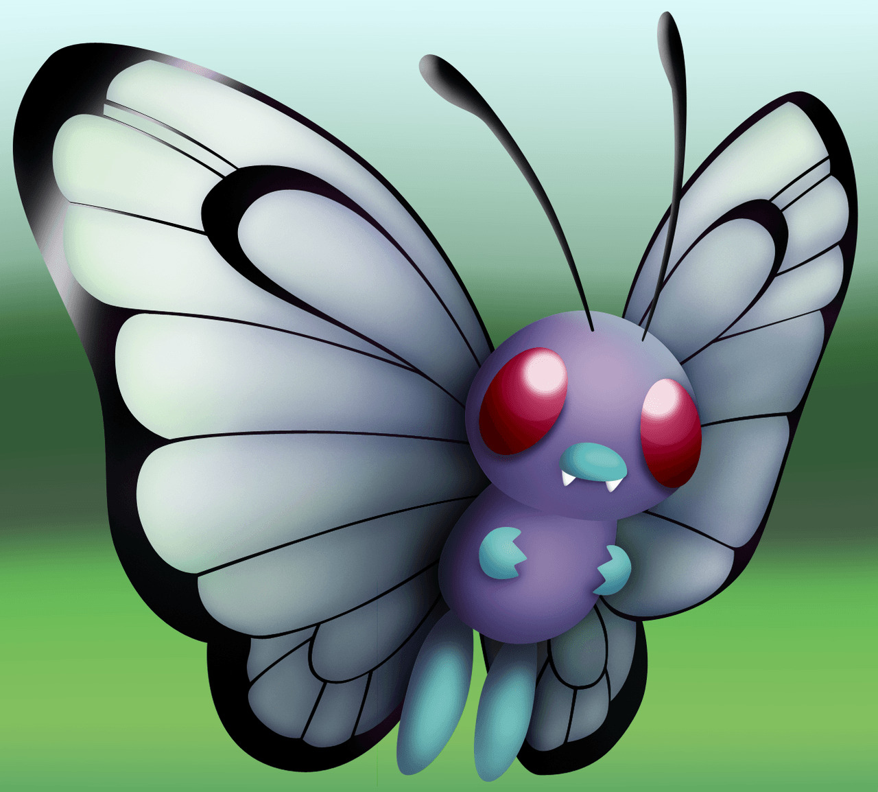 Pokemon Revamps: Butterfree by Susyspider on DeviantArt