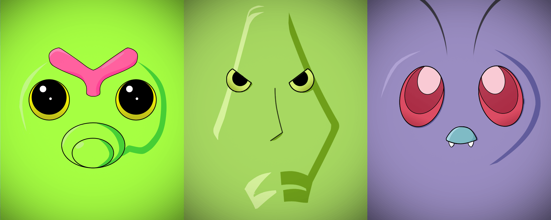 Minimalist Caterpie, Metapod and Butterfree by Vault--Girl on ...