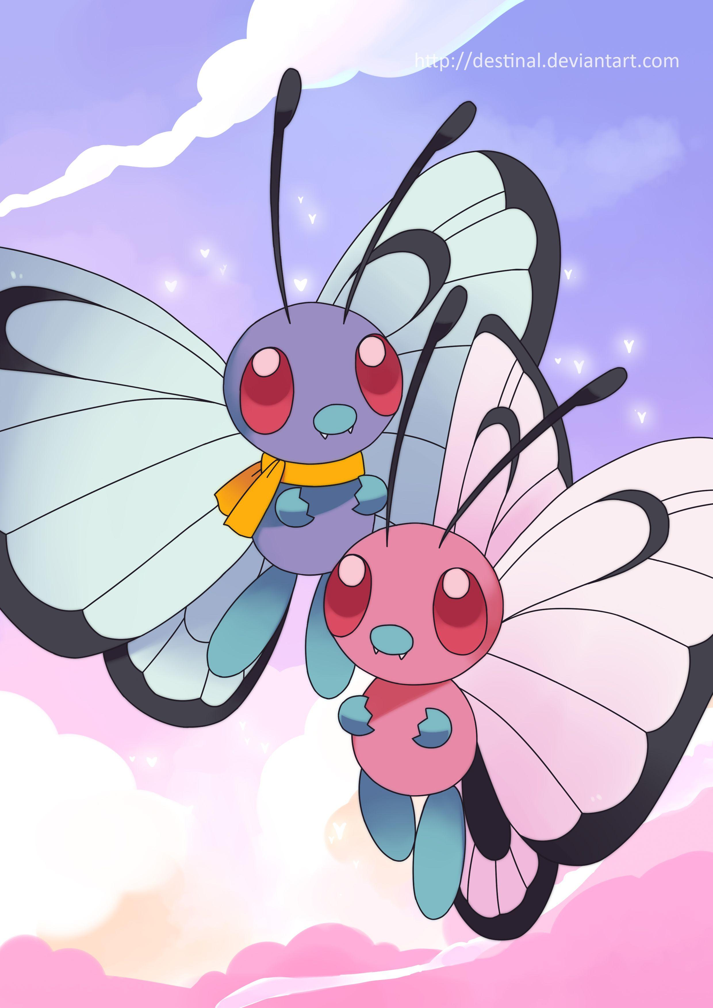Butterfree duo Poster by Crystal-Ribbon on DeviantArt