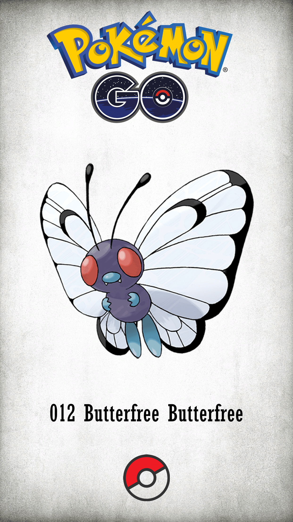 012 Character Butterfree Butterfree | Wallpaper