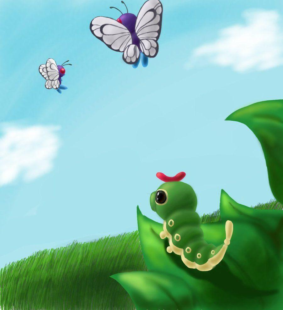 Caterpie and Butterfree | Butterfly | Pinterest | Pokémon and ...