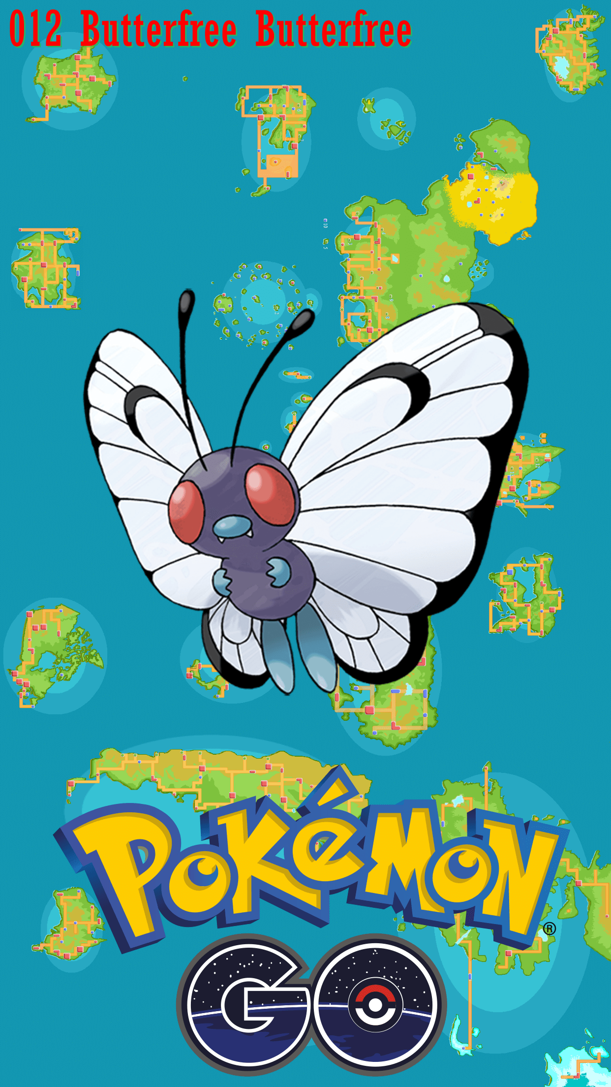 012 Street Map Butterfree Butterfree | Wallpaper